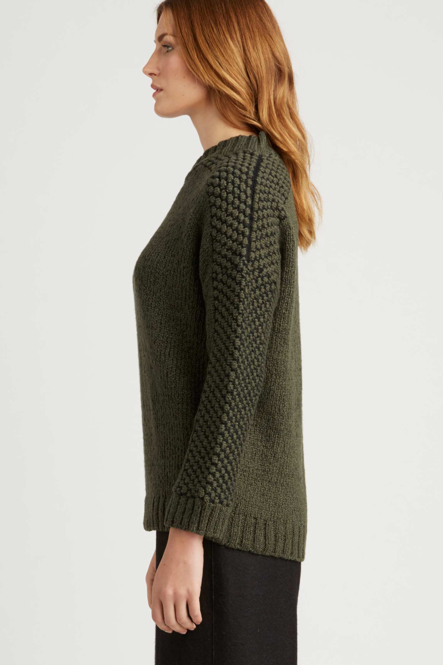 Bobble Shoulder Pullover - Indigenous