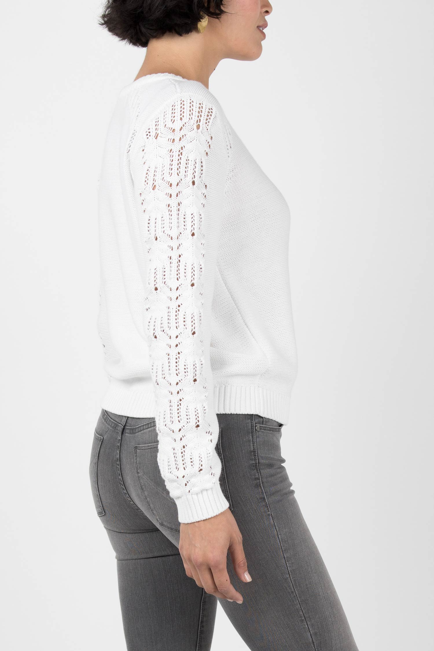 Crochet Sleeve Sweater - Indigenous