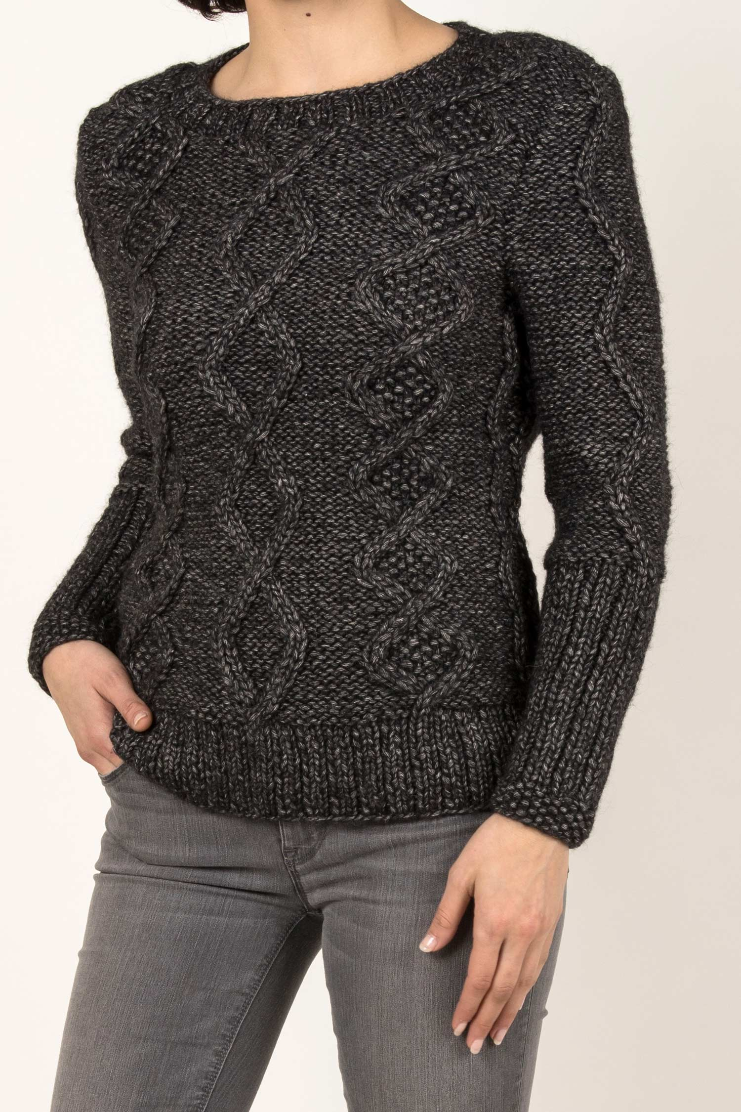 Chunky Cable Sweater - Indigenous