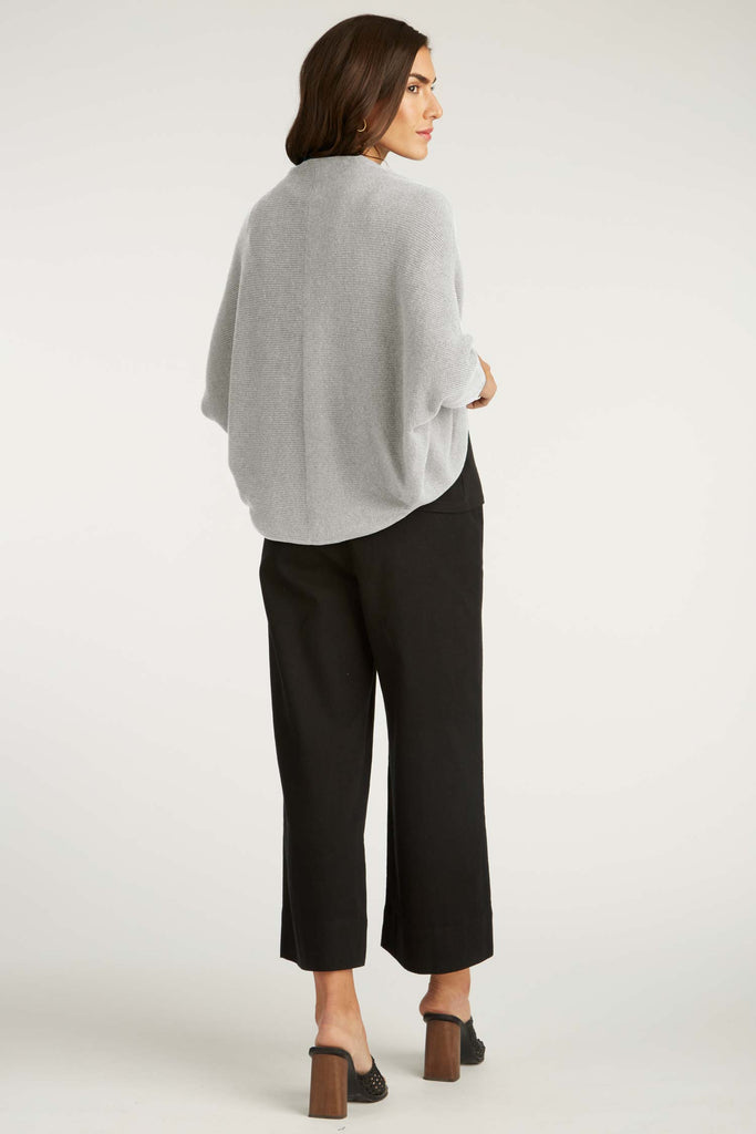 Womens Organic Cotton Sweater | Gray | Cocoon Cardigan