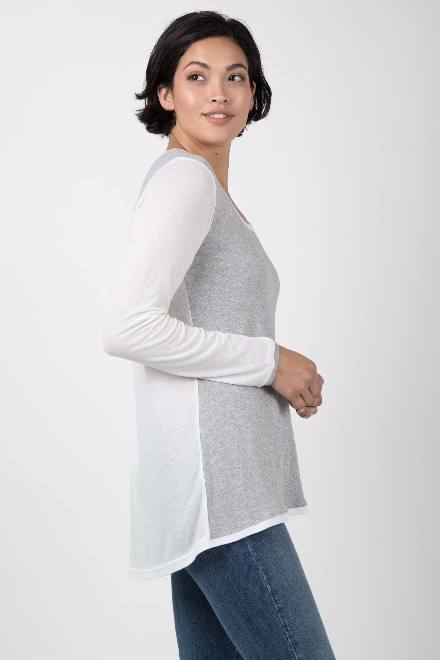 Crepe Scoop Tunic