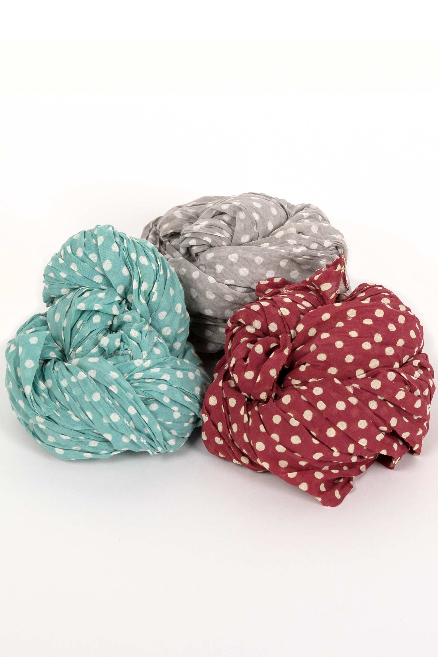 Womens Organic Cotton Scarf | Dabu Dot Block Print Scarves