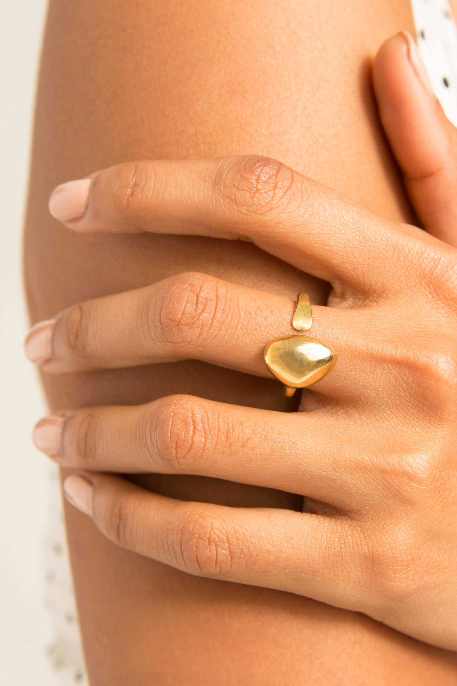 Delicate Brass Sabi Ring by SOKO Ethical Jewelry