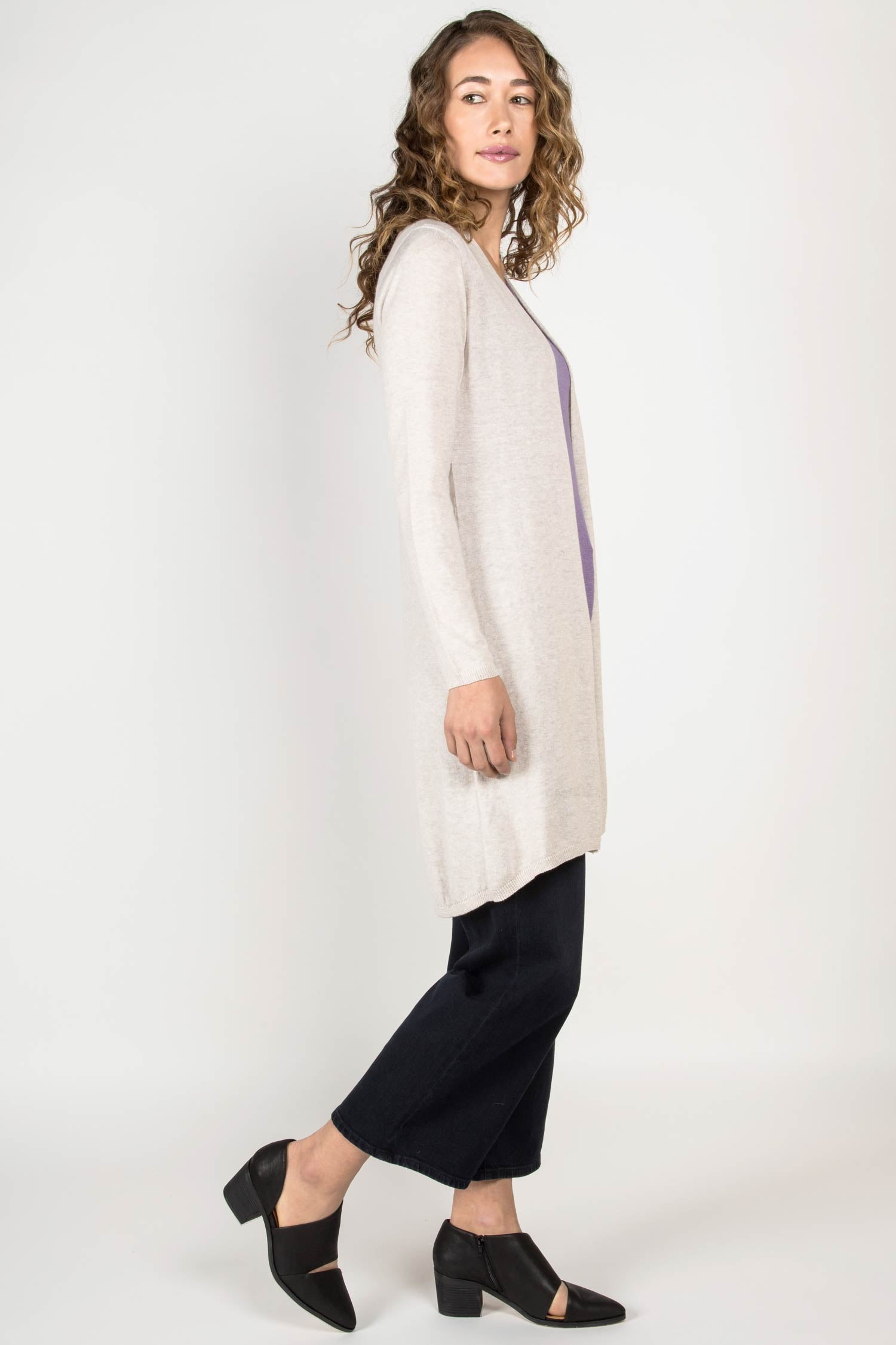 Womens Organic Cotton Sweater | Essential Knit Cardigan | Indigenous