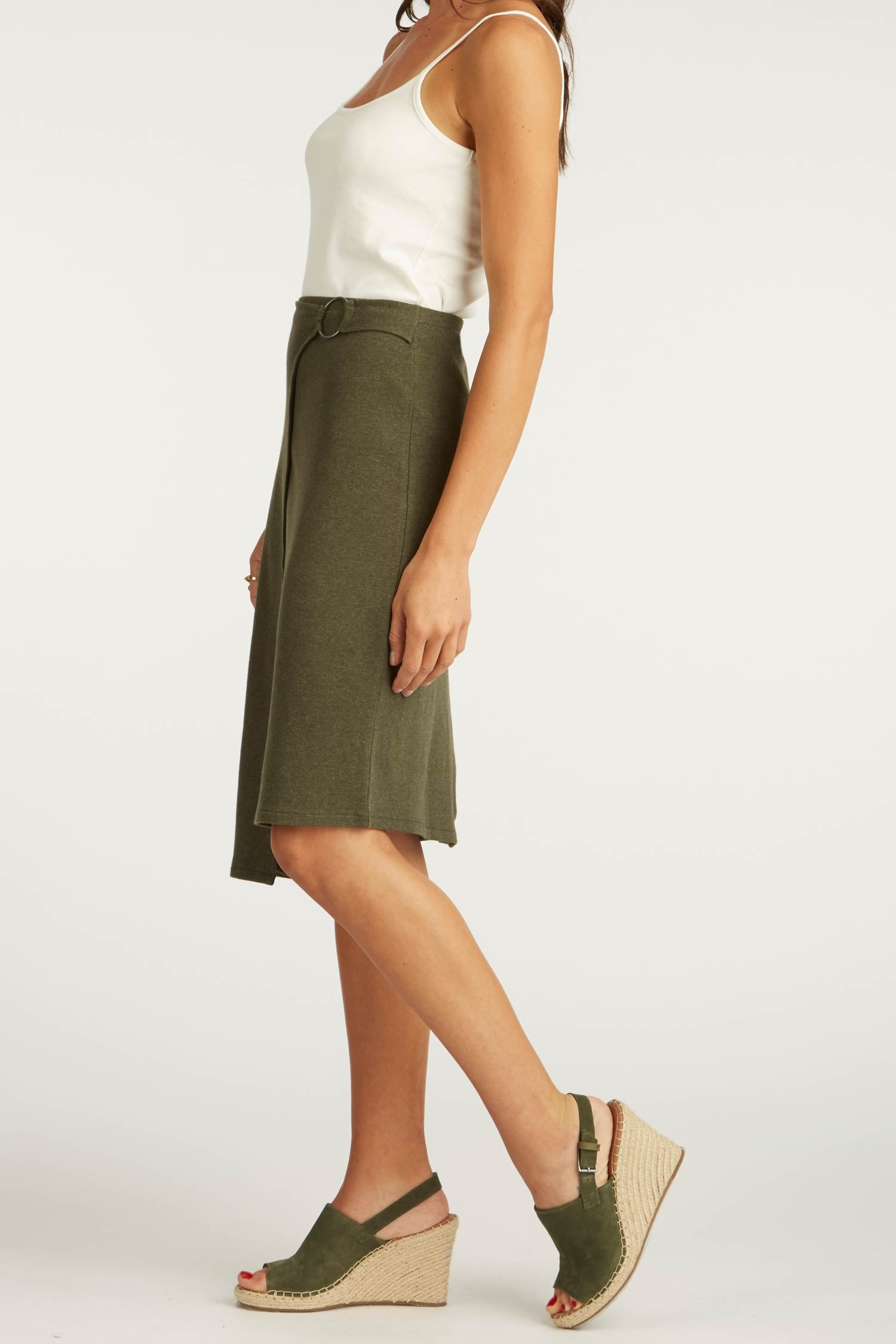 Faux Wrap Skirt