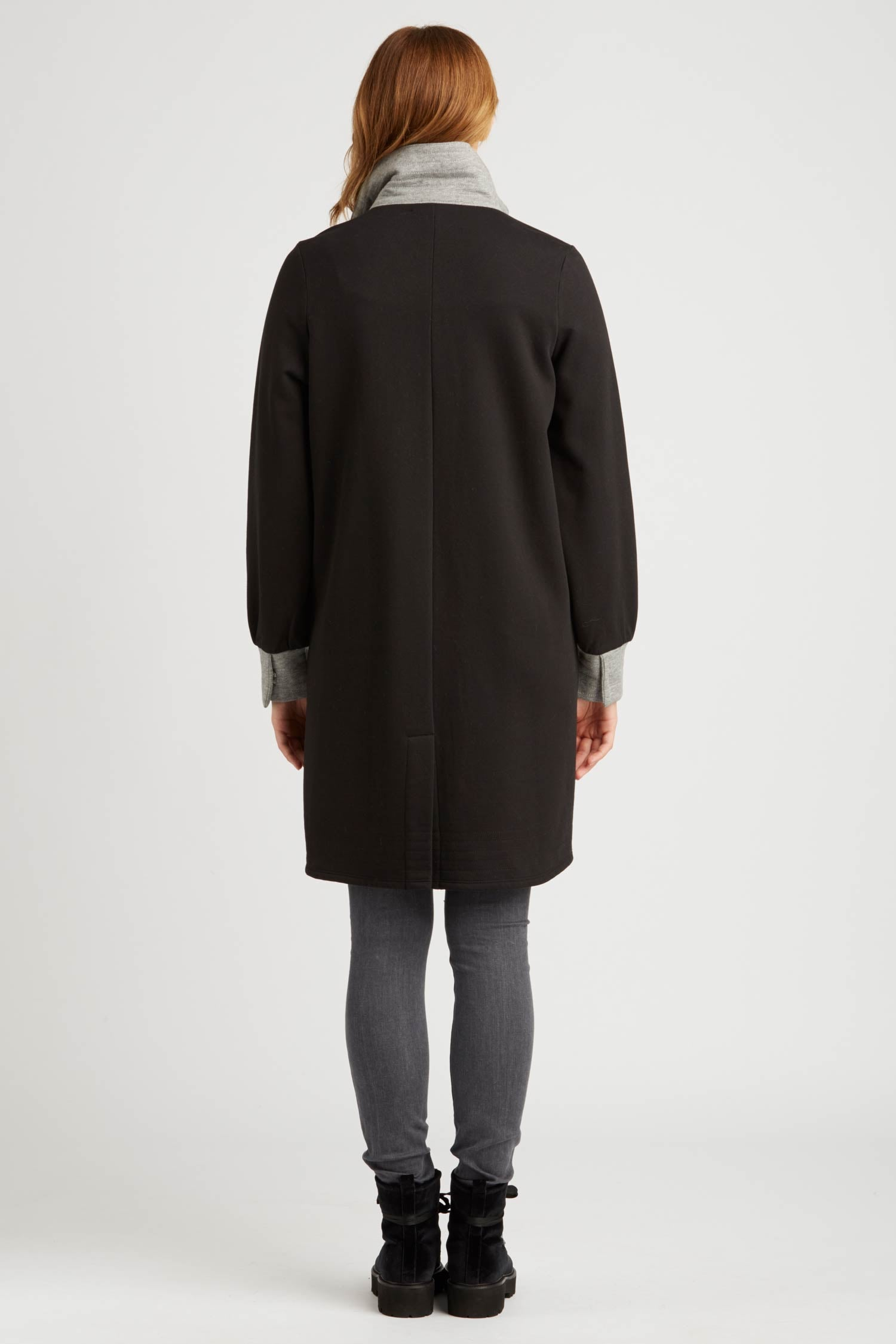 Womens Fleece Bomber Coat | Black | Sustainable Fashion