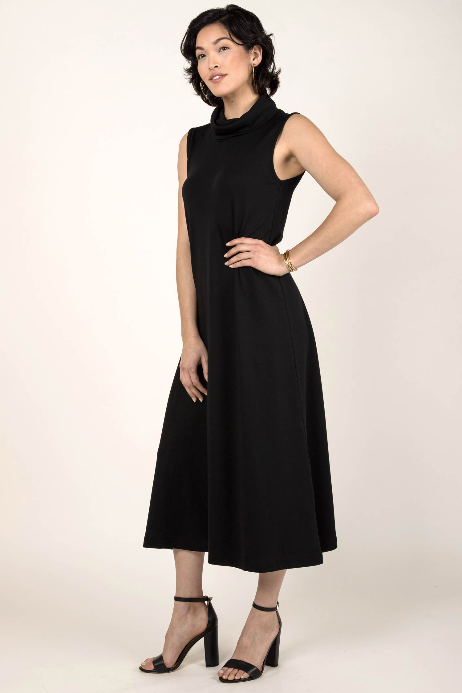 Foldover Cowl Neck Dress - Indigenous