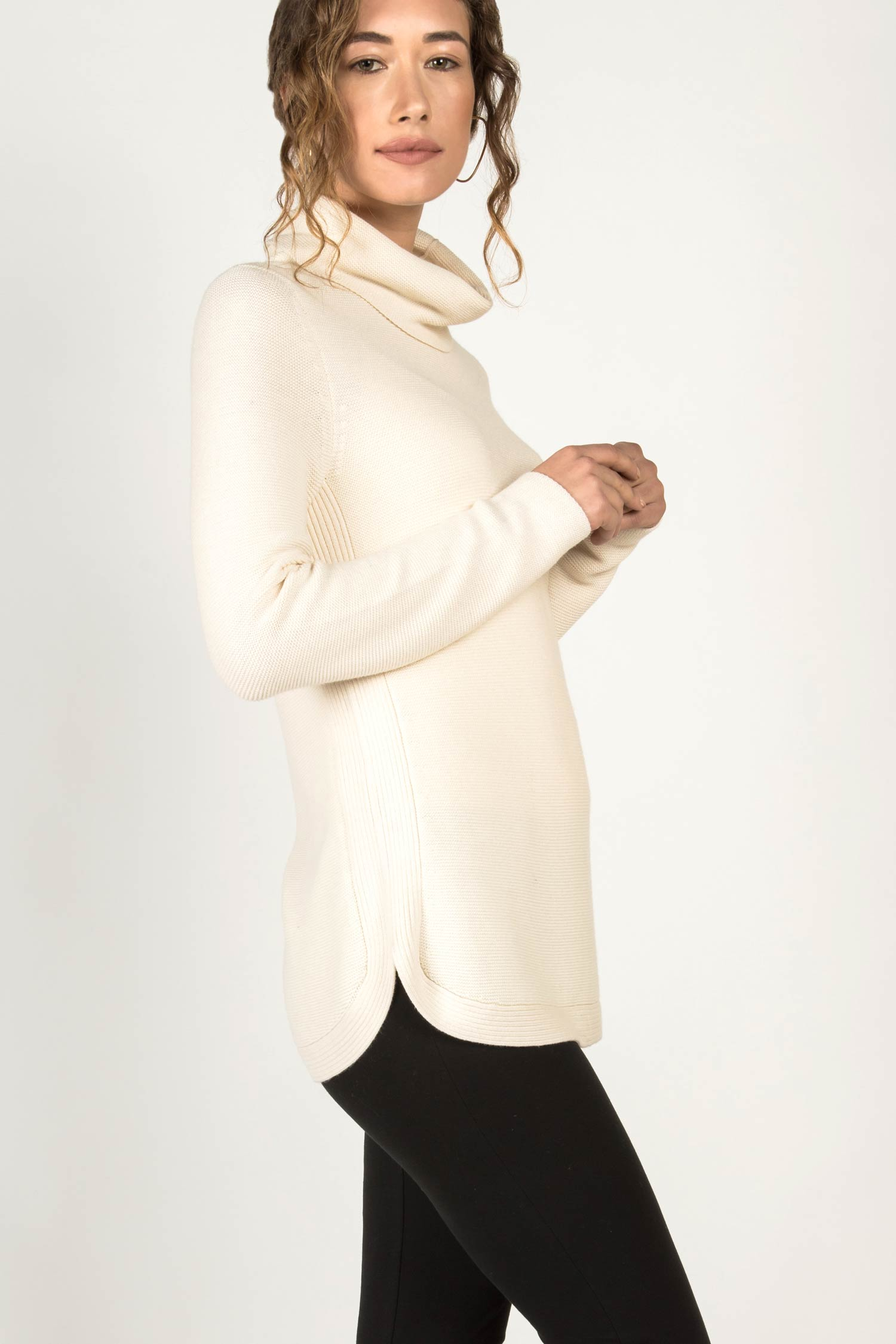 Funnel Neck Pullover Sweater
