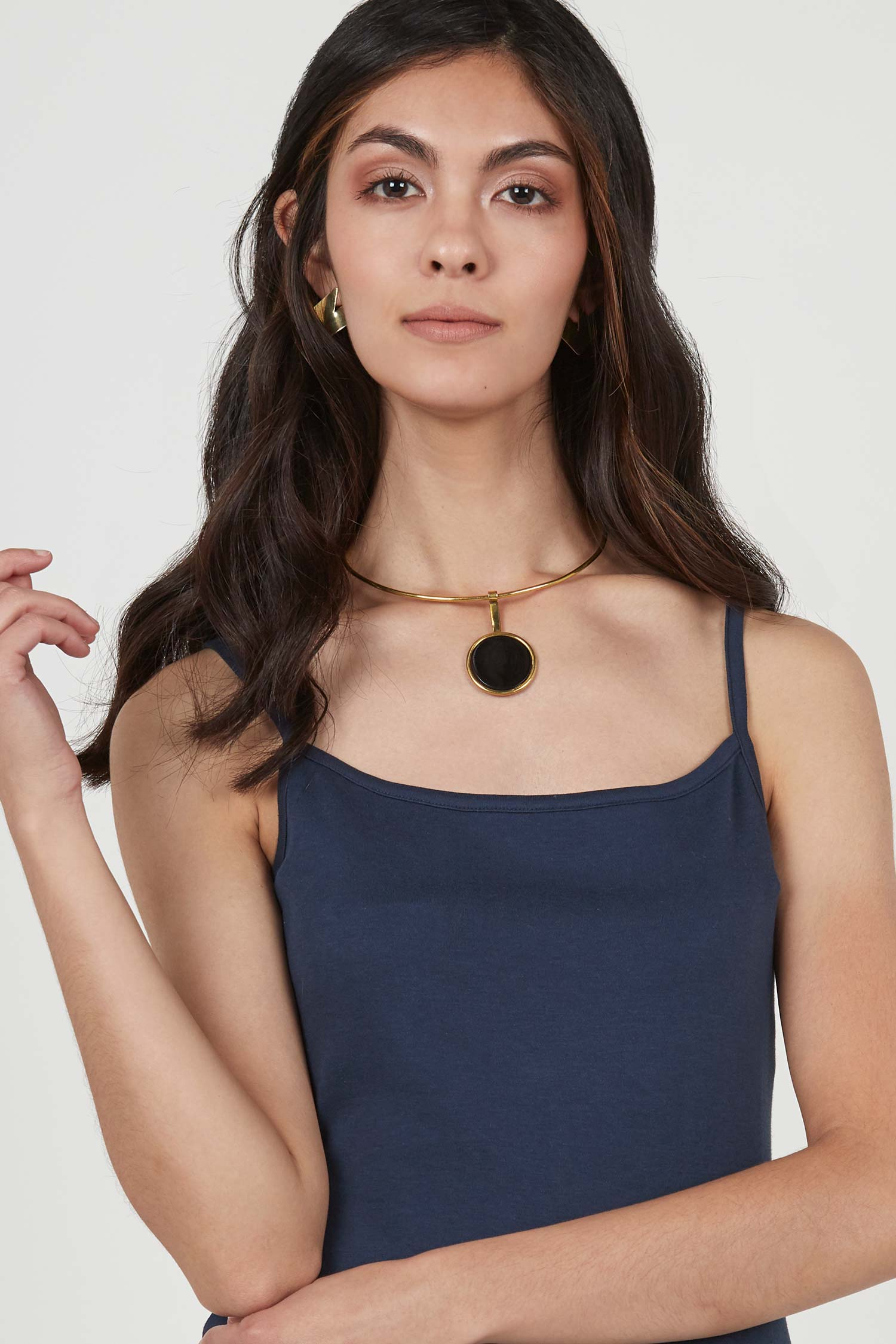 Womens Brass Necklace | Horizon Choker | Soko Ethical Jewelry