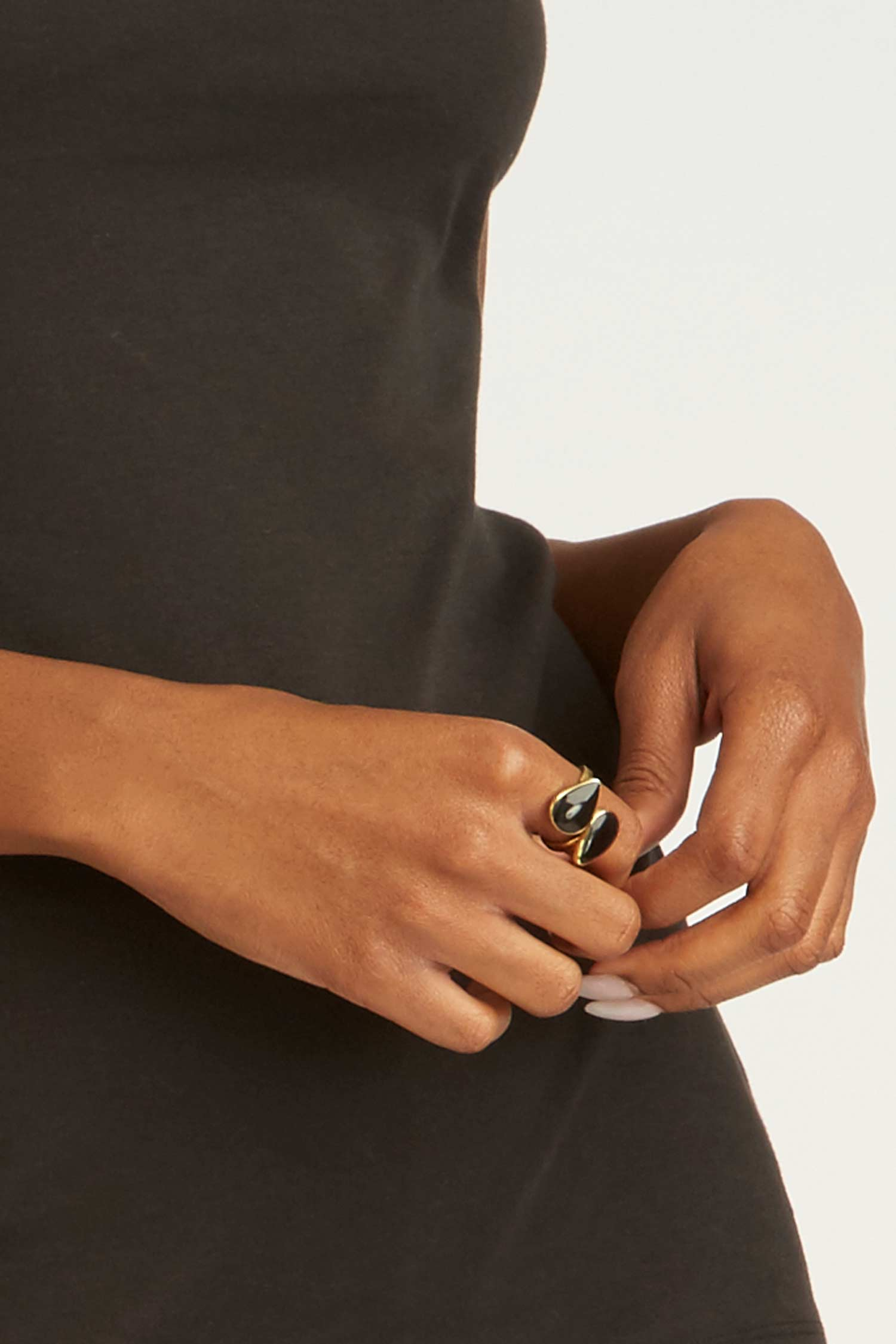 Indra Horn Statement Ring - Indigenous