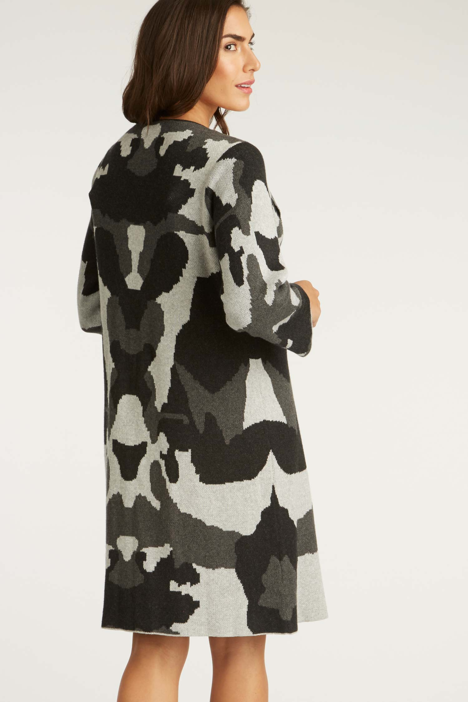 Ink Blot Swing Coat - Indigenous