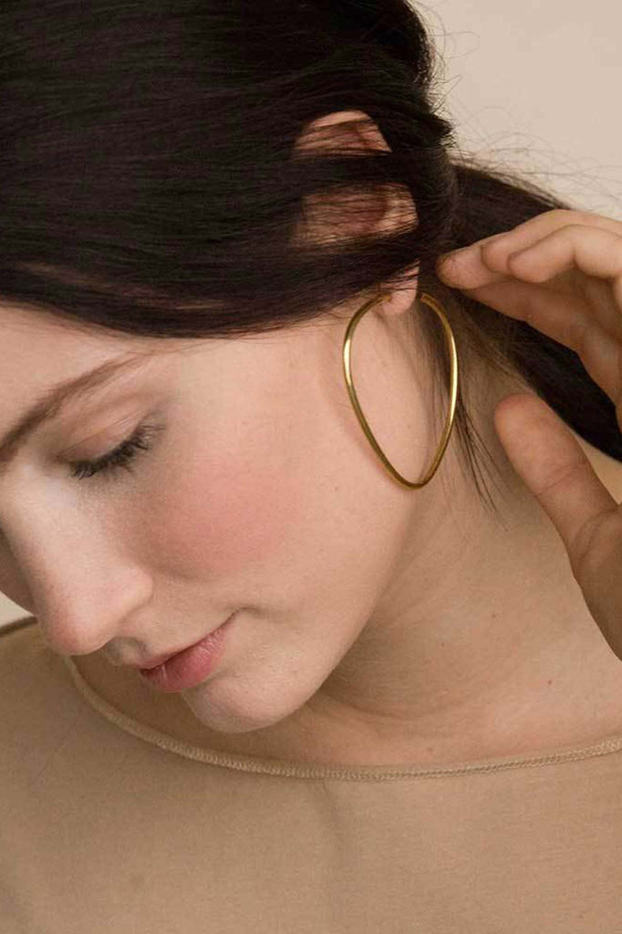 Womens Ethical Jewelry - Maxi Sabi Organic Hoops - Soko Brass Earrings