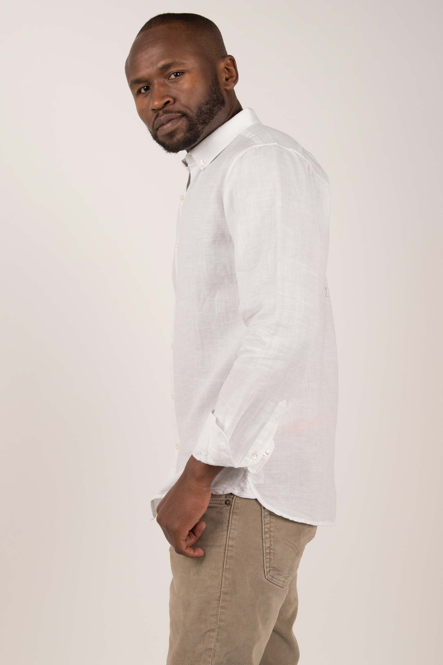 Men's Organic Linen Shirt - Indigenous