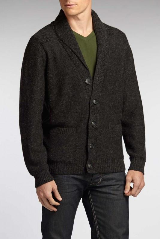 Alpaca Shawl Collar Cardigan