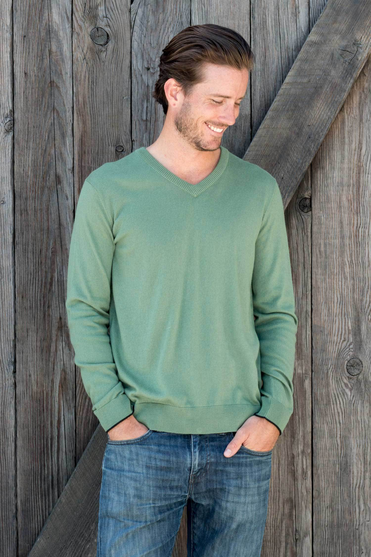2555f7bc56685 Mens V Neck Sweater | organic cotton sweaters – Indigenous