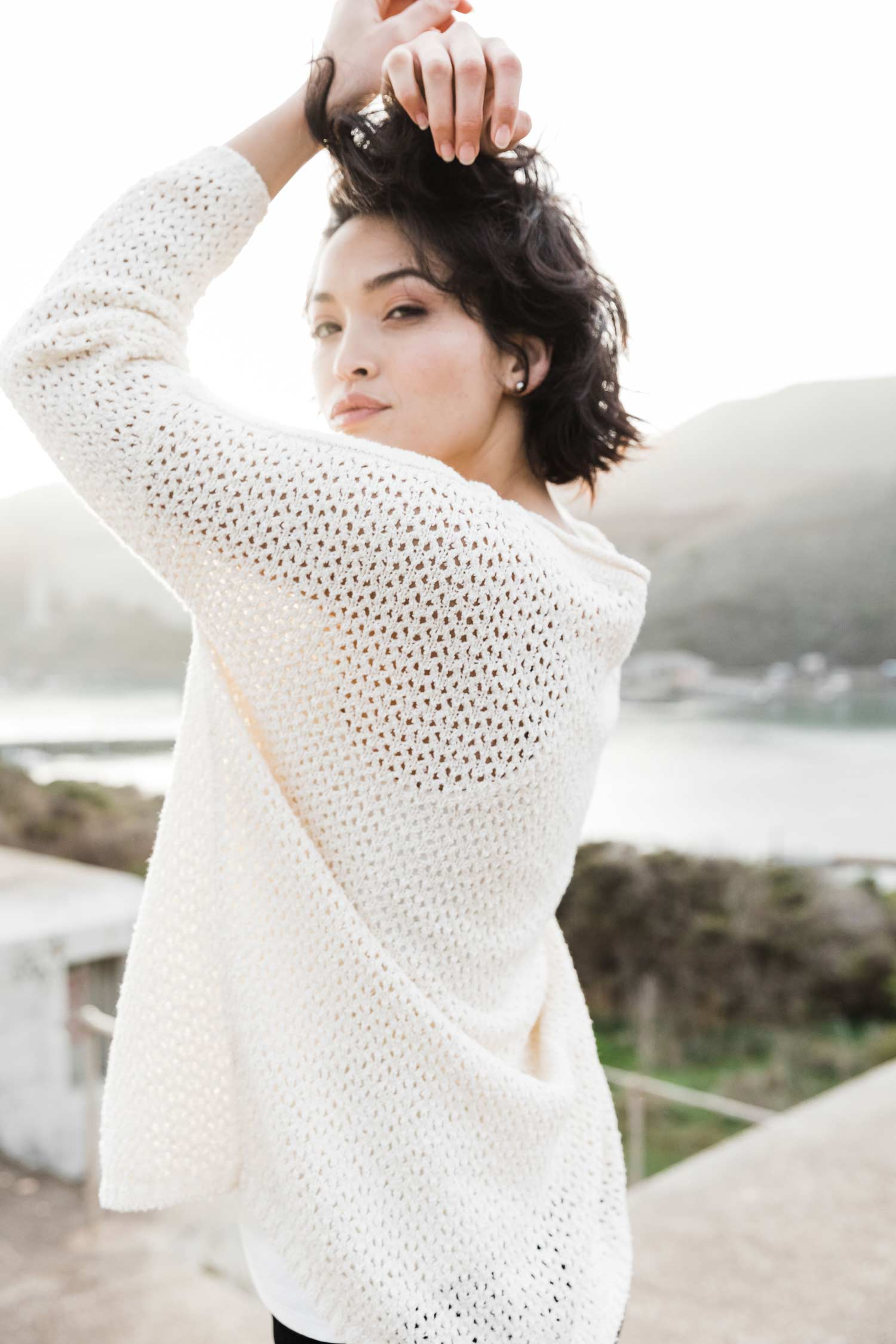 Boucle Mesh Pullover - Indigenous