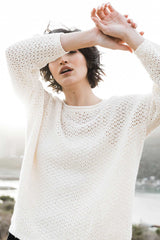 Boucle Mesh Pullover