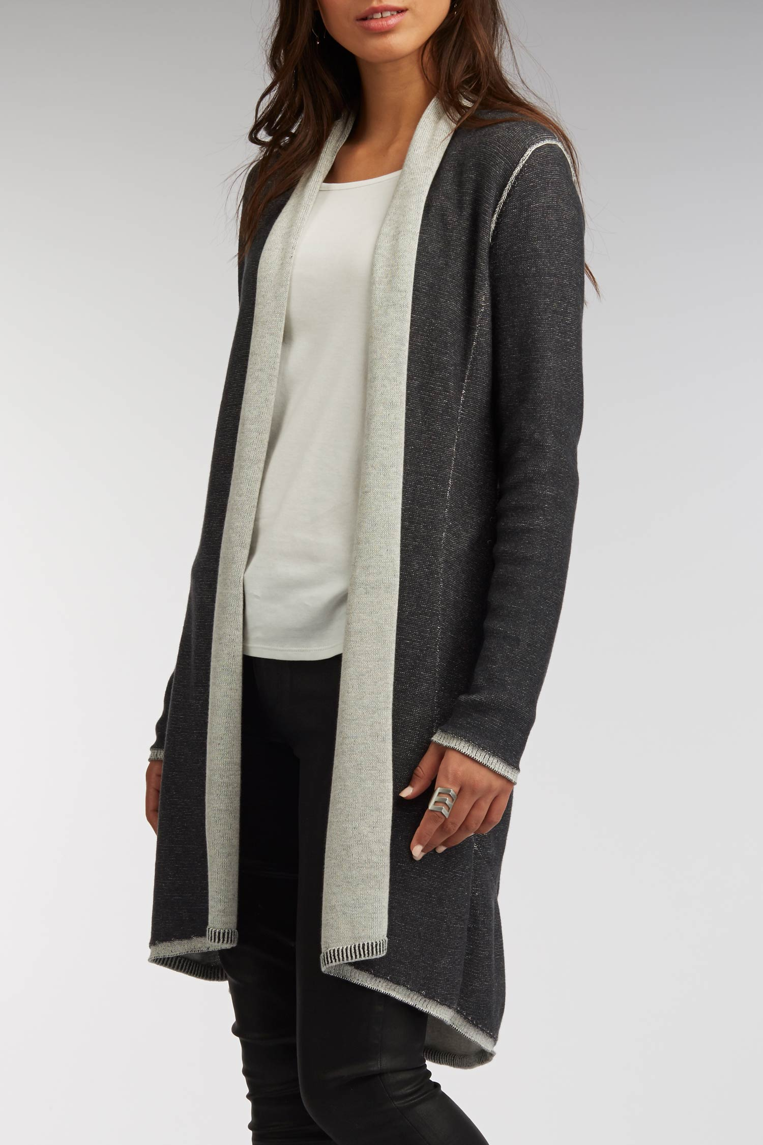 Womens Luxury Reversible Cardigan | Organic Cotton Sweater