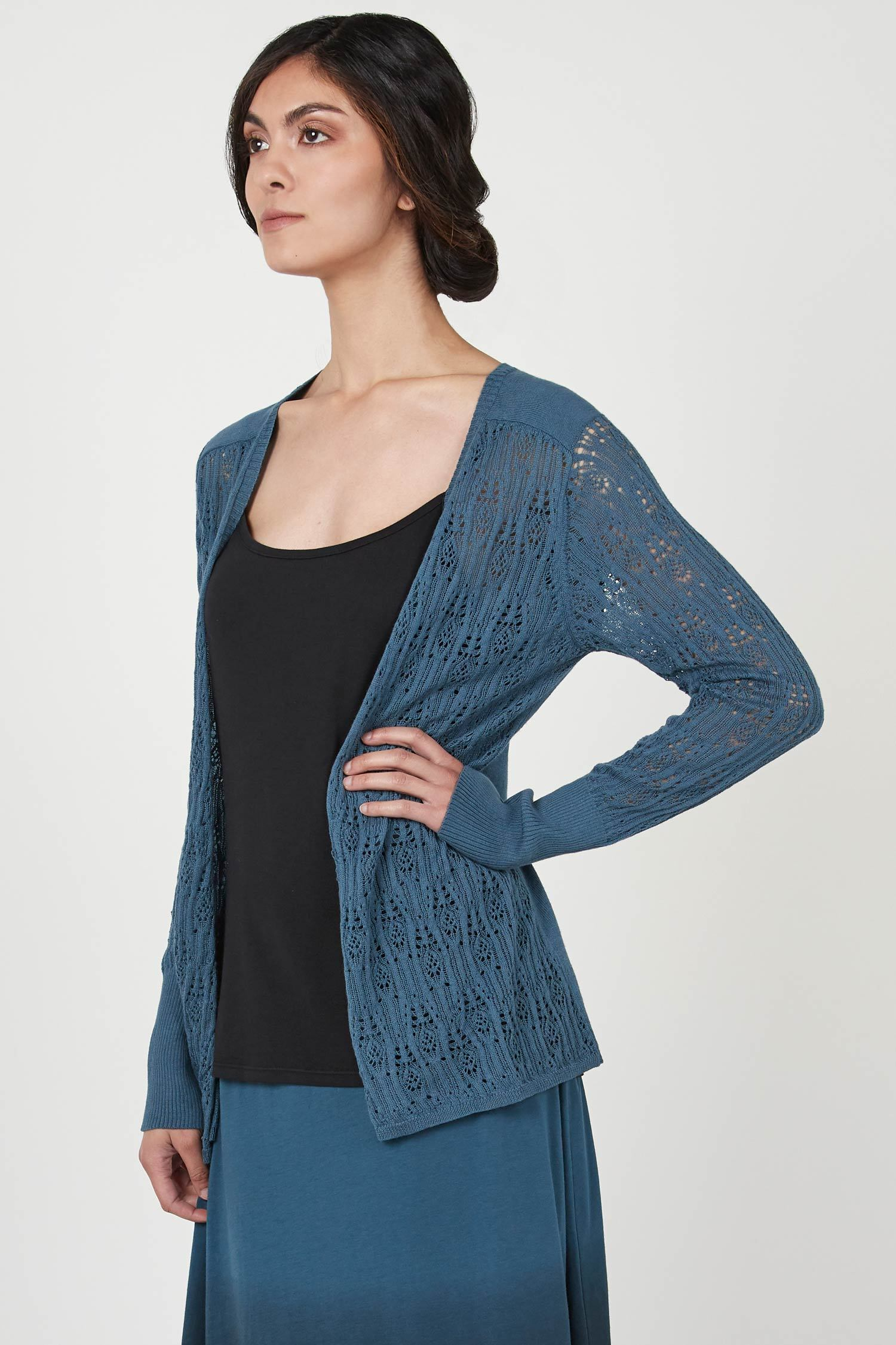 Pointelle Cardigan - Indigenous