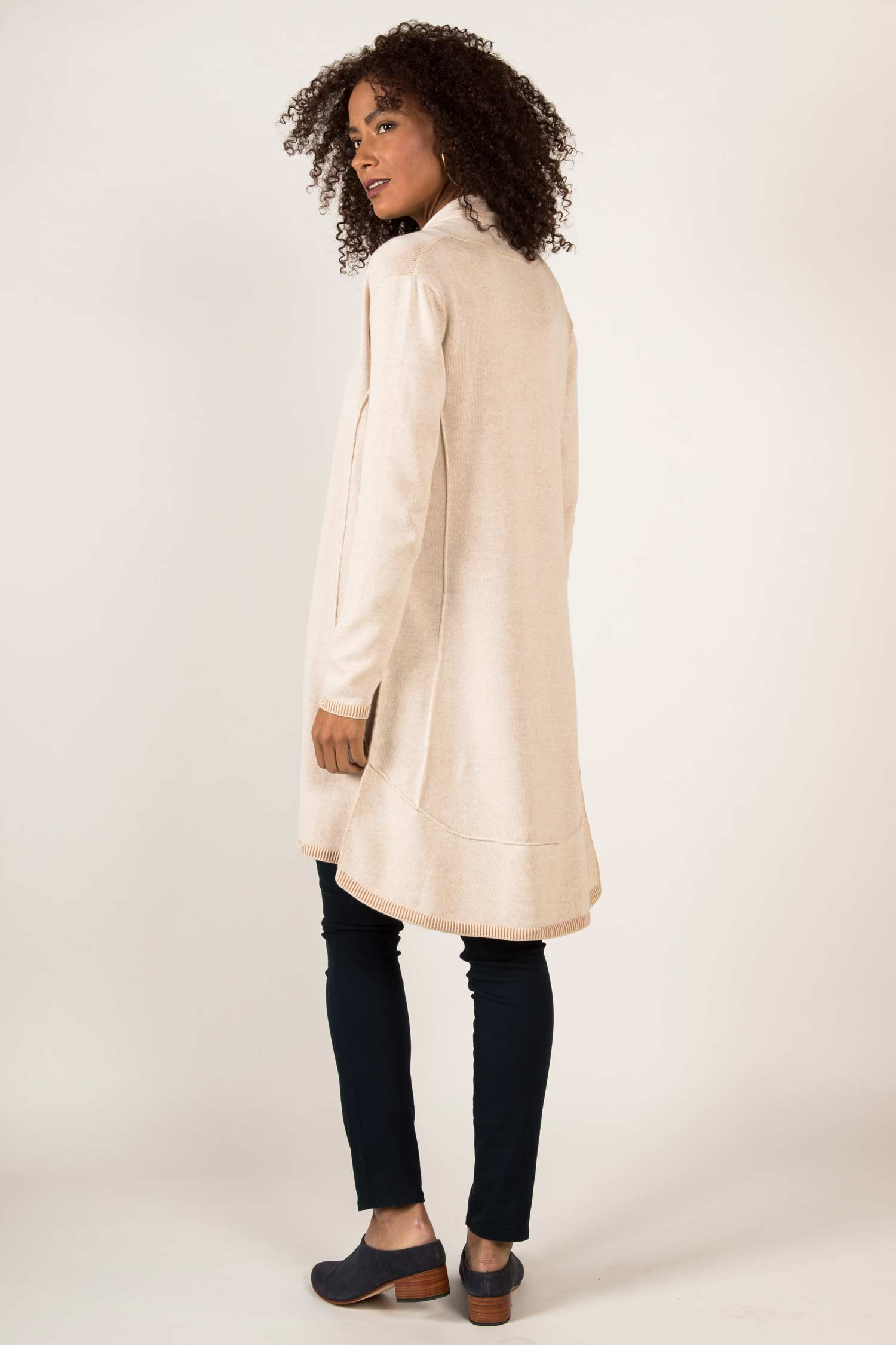 Womens Organic Cotton Sweater | Undyed Cardigan | Ivory Begie
