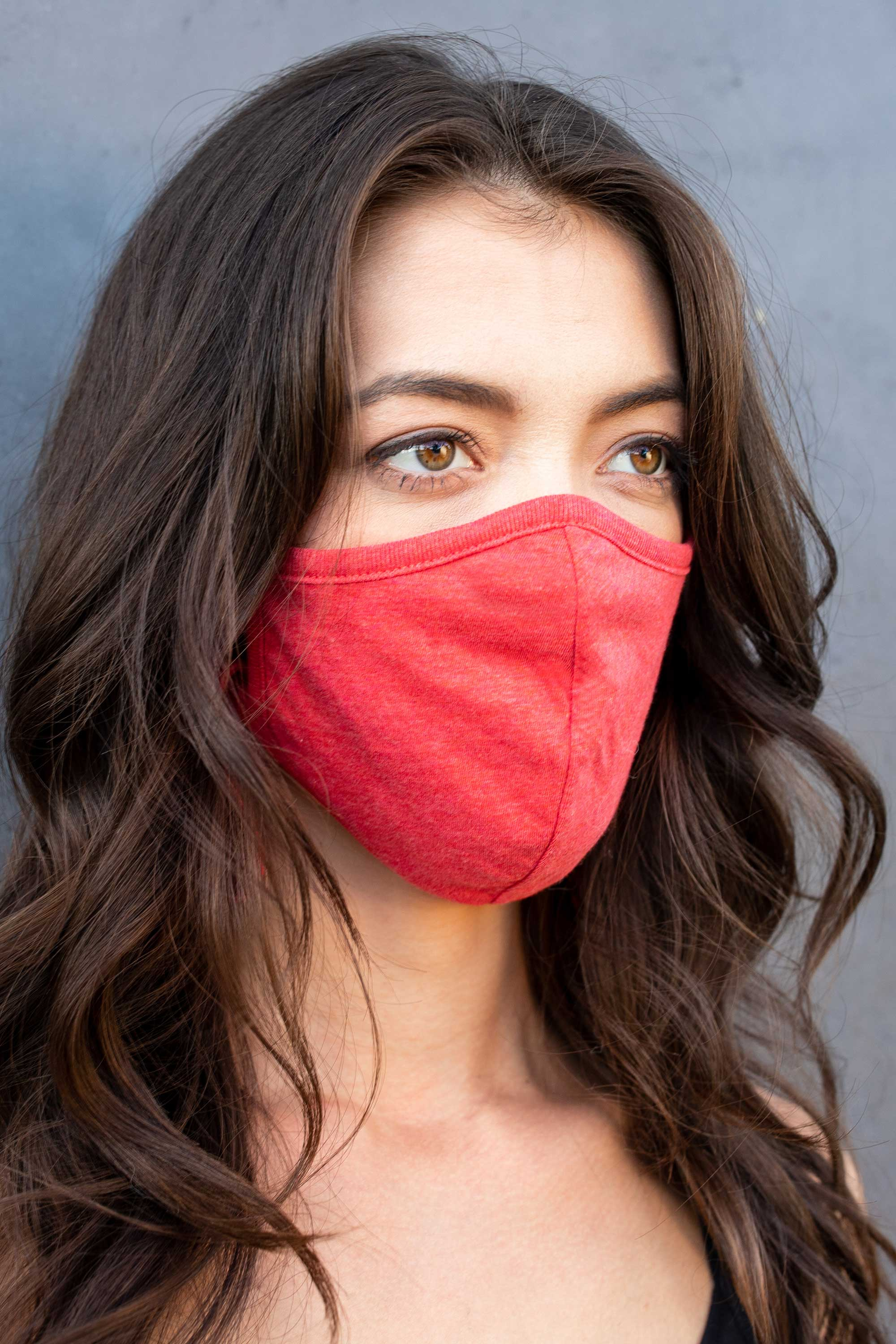 Organic Cotton Masks - 5 Pack, Tie-back