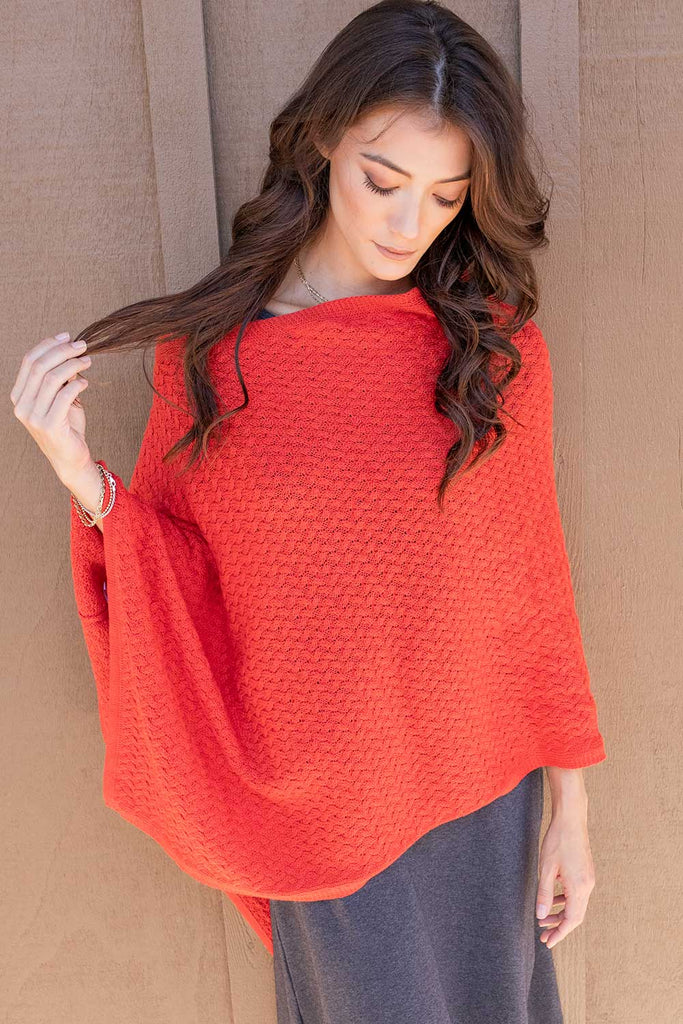 Lattice Stitch Poncho
