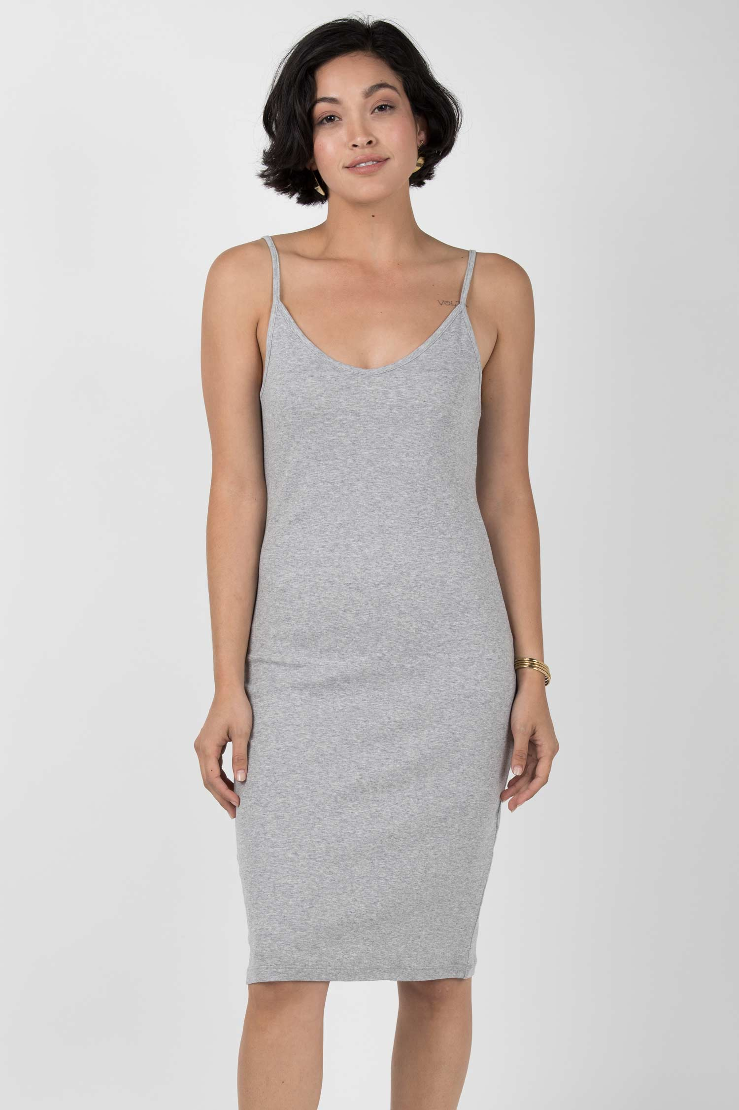 Womens Organic Cotton Dress | Gray Slip Dress | Indigenous