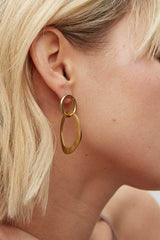 Open Sabi Link Stud Earrings - Indigenous