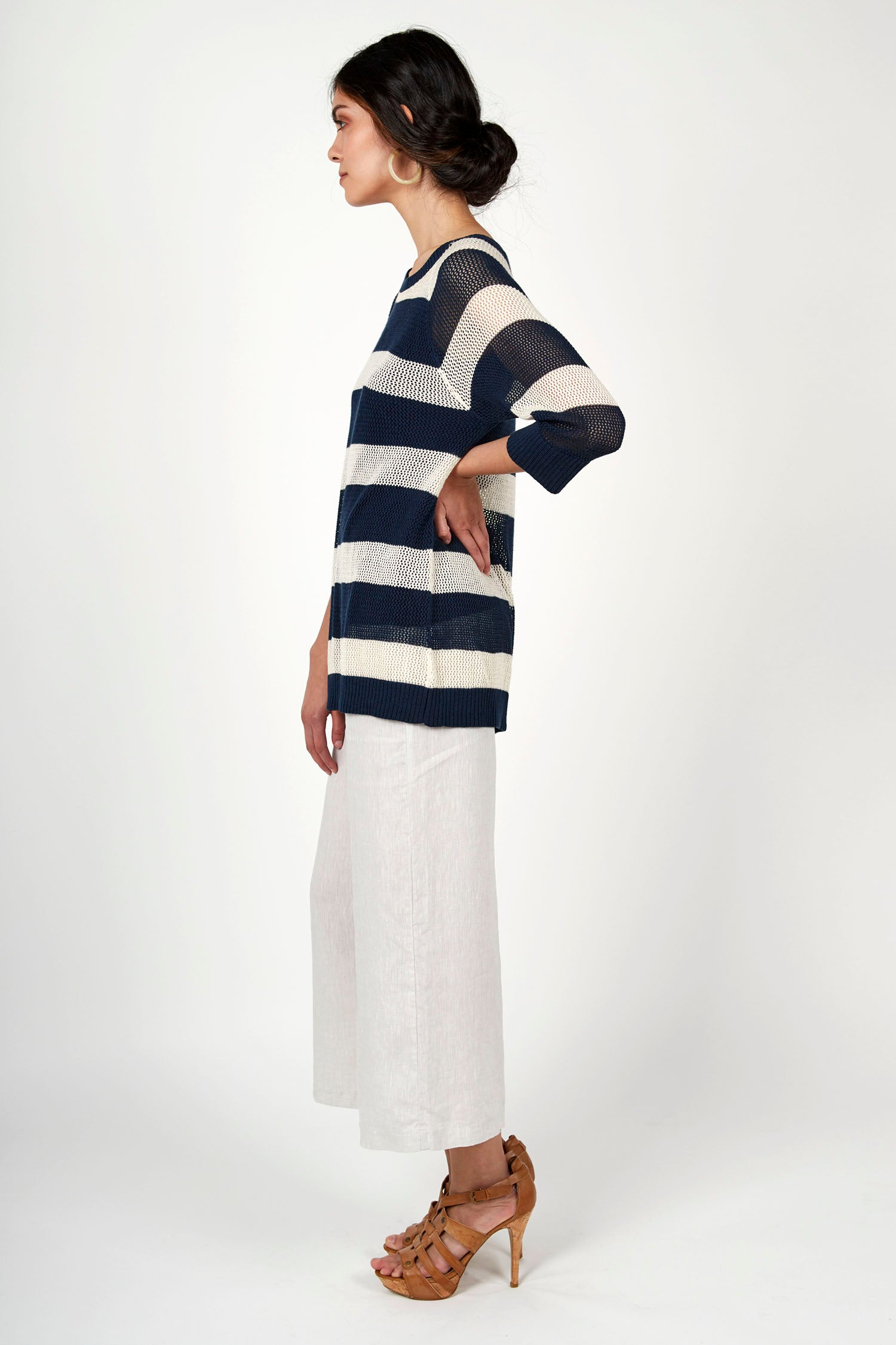Seaside Stripe Pullover Top - Indigenous