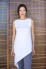 Womens Organic Cotton Top | Asymmetrical Slub Tunic | Indigenous
