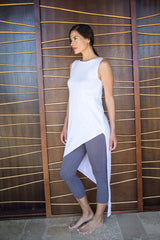 Womens Organic Cotton Leggings | Gray Luxe Capri Legging | Indigenous