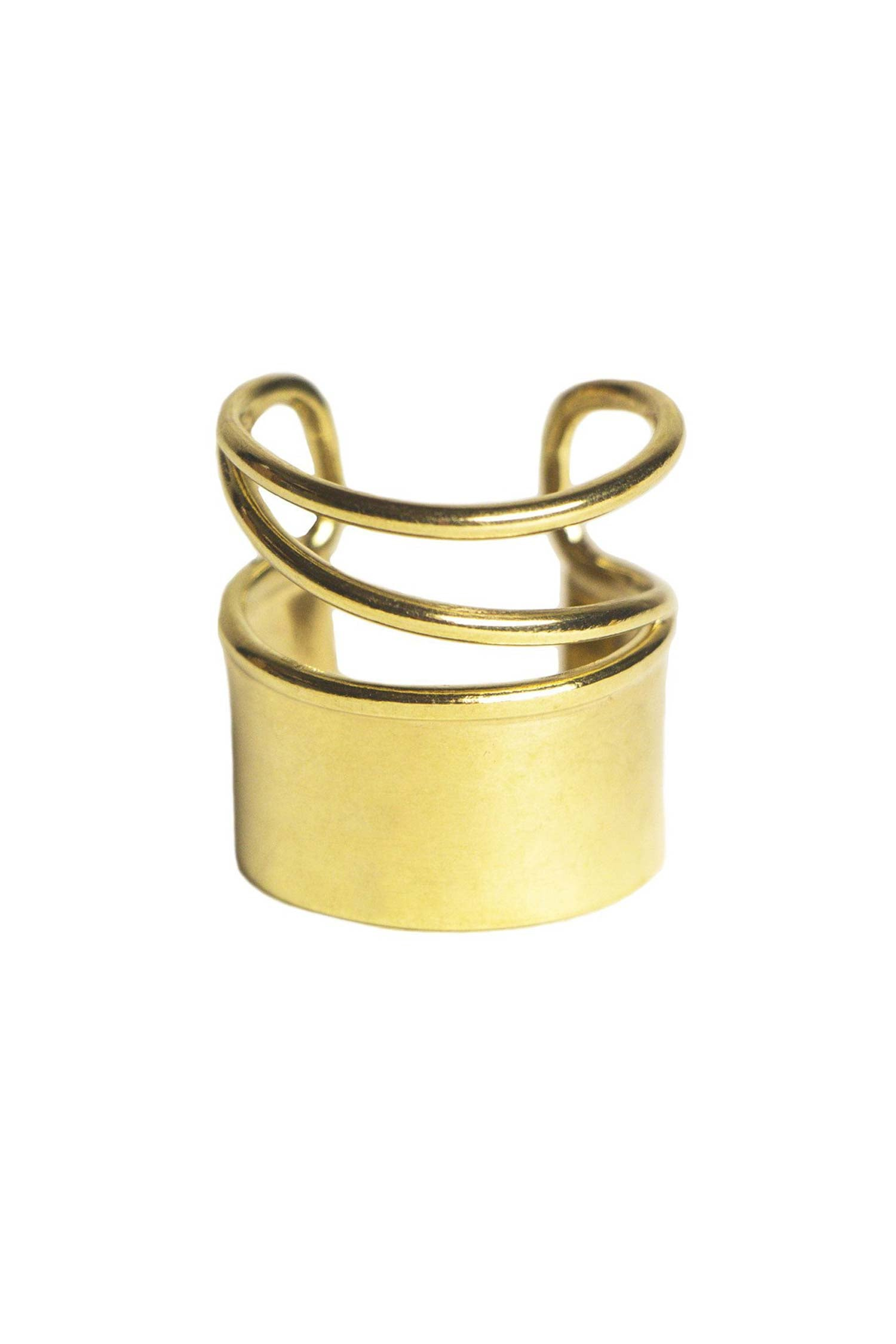 Adjustable Triple Band Ring | Soko Brass Ring