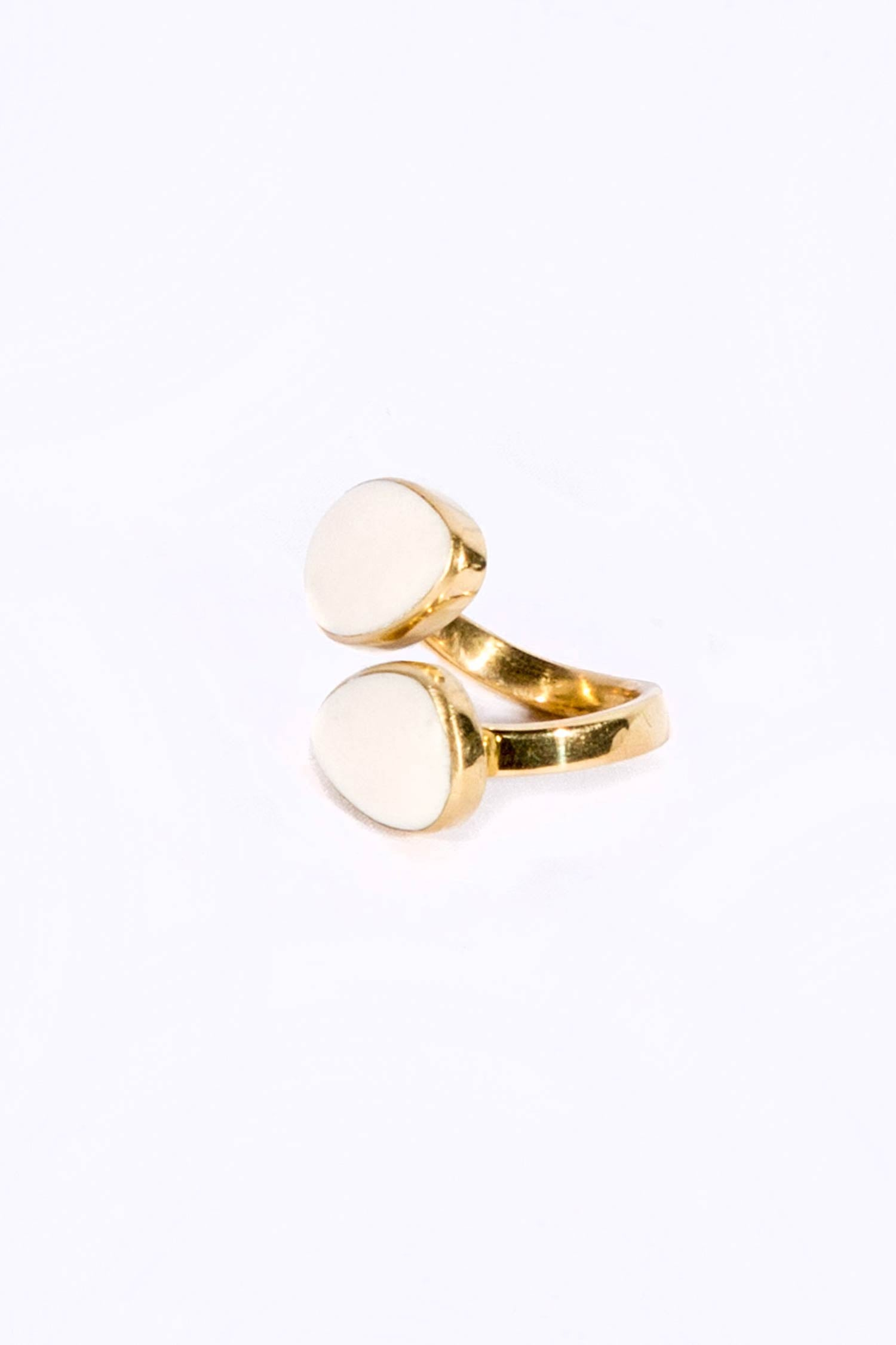 Womens Ethical Jewelry Ring | Brass Indra Horn Statement Ring by Soko
