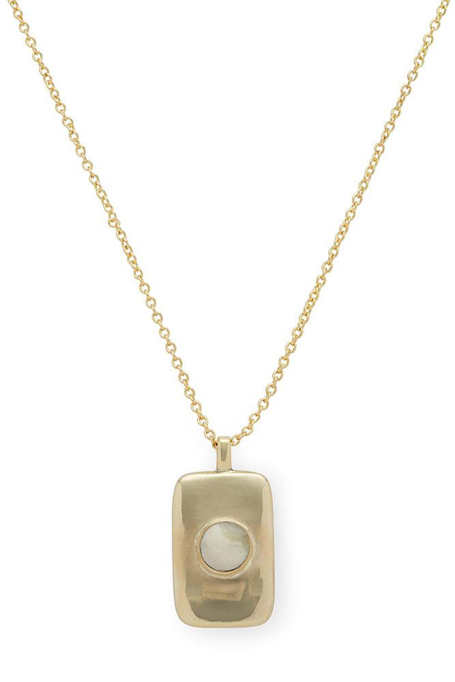 Bezeled Rectangle Medallion Necklace - Indigenous
