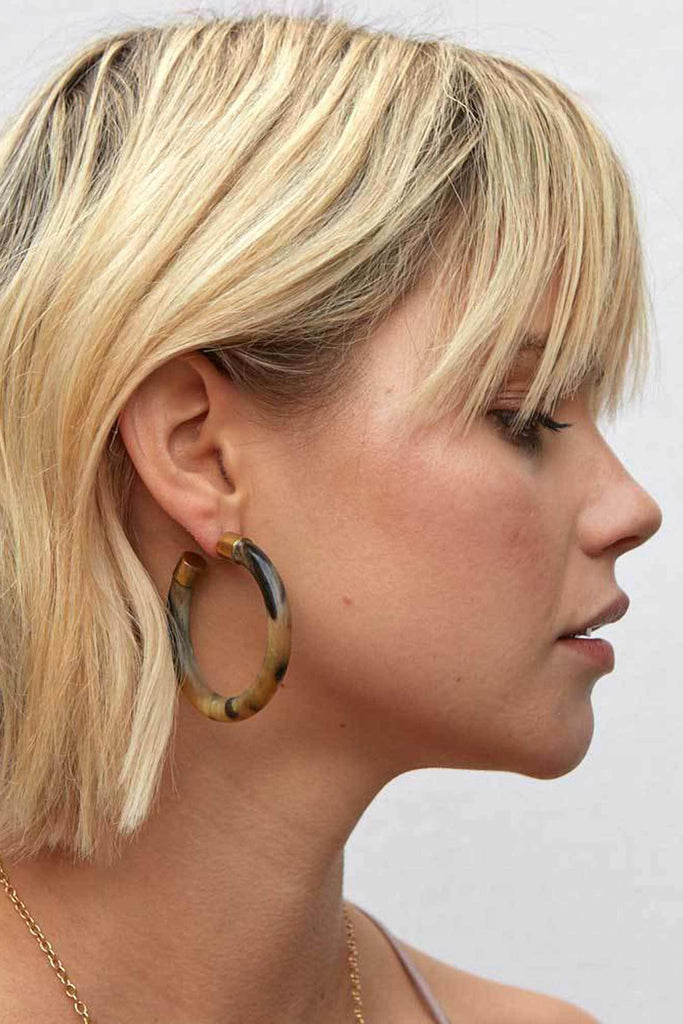 Soko Capped Horn Hoops | Hoop Earrings | Ethical Jewelry