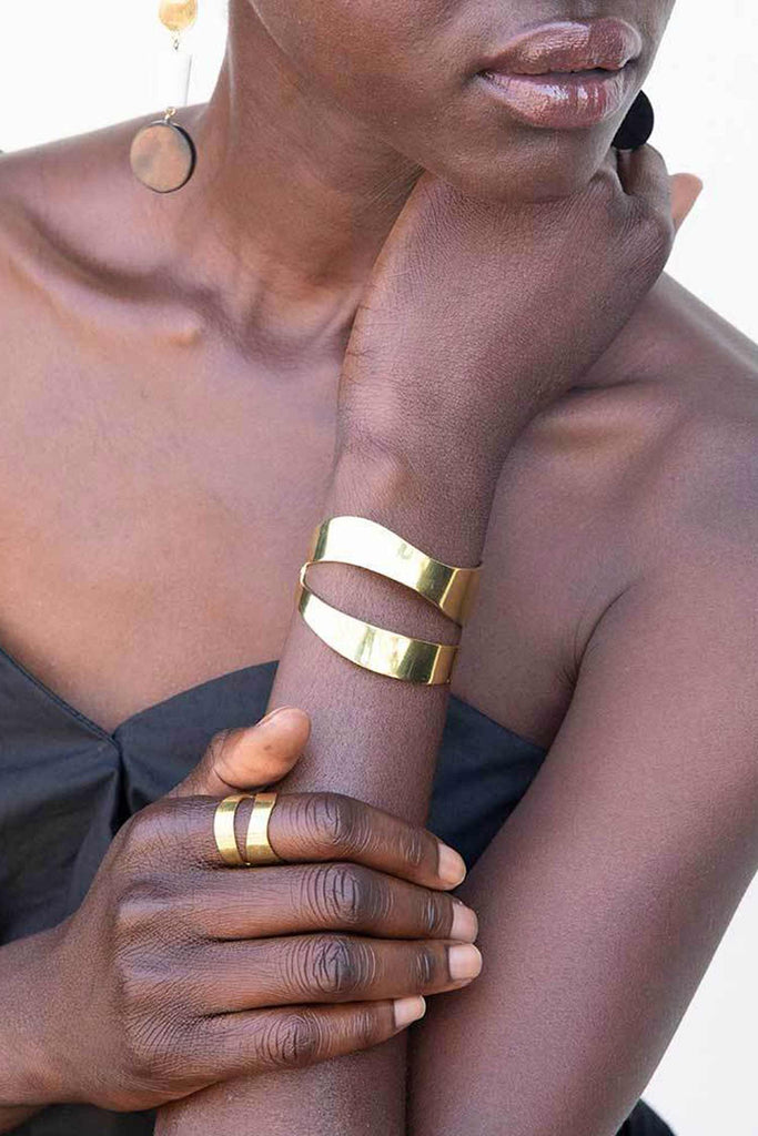 Soko Wimbi Statement Bracelet | Brass Bracelets | Ethical Jewelry