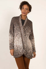 Speckled Open Front Cardigan - Indigenous