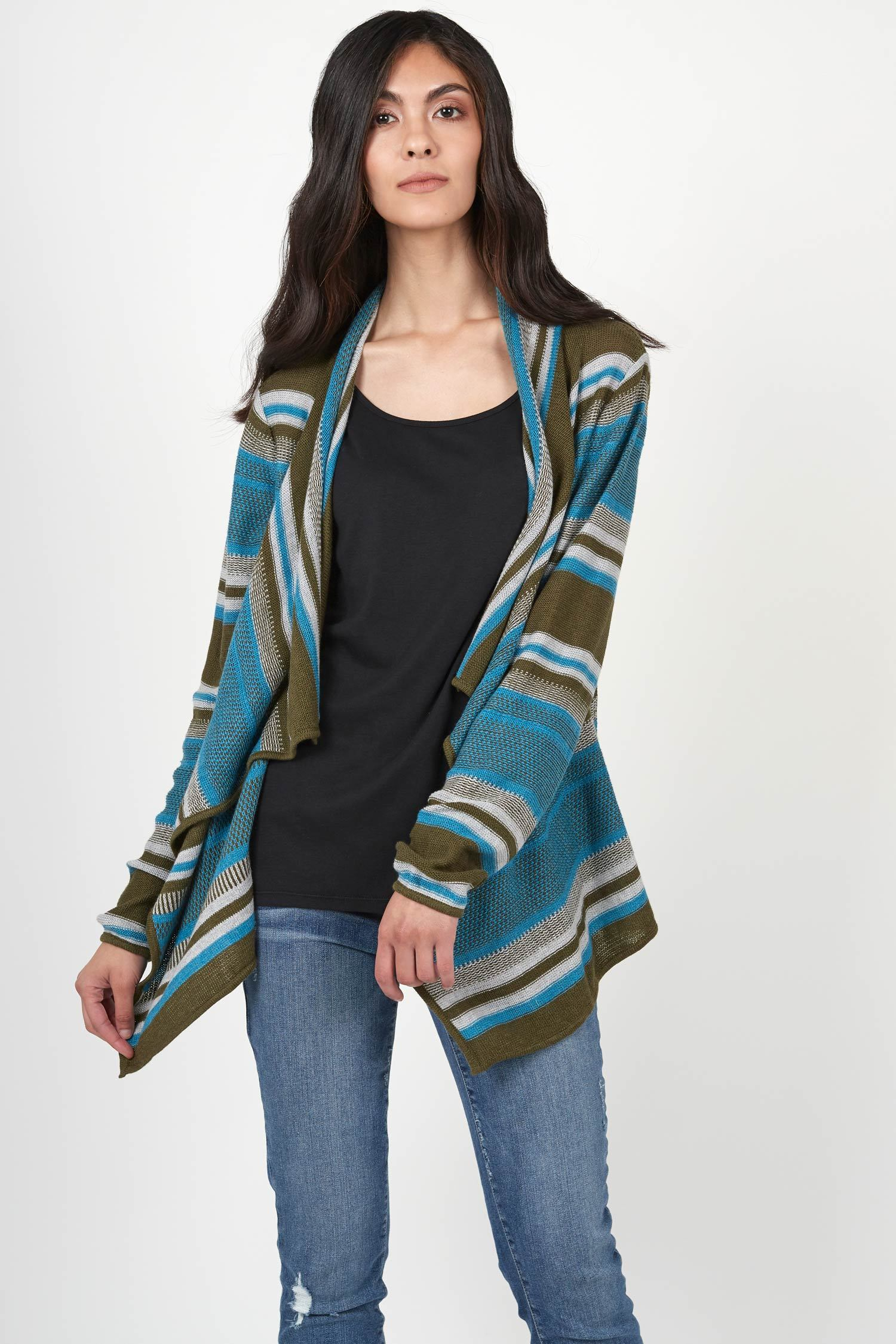 Striped Cardigan - Indigenous
