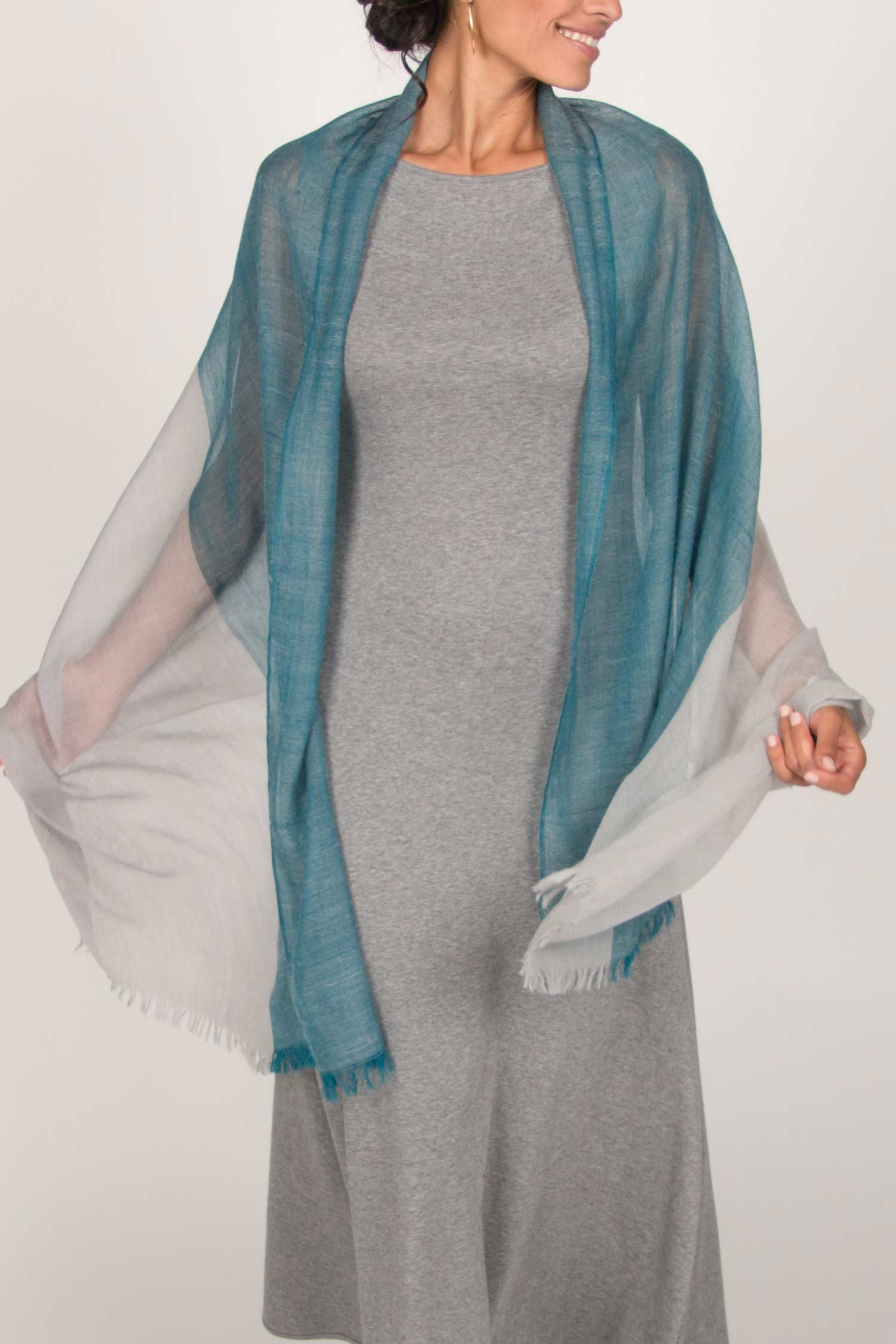 Ultra-Soft Wool Color Block Scarf