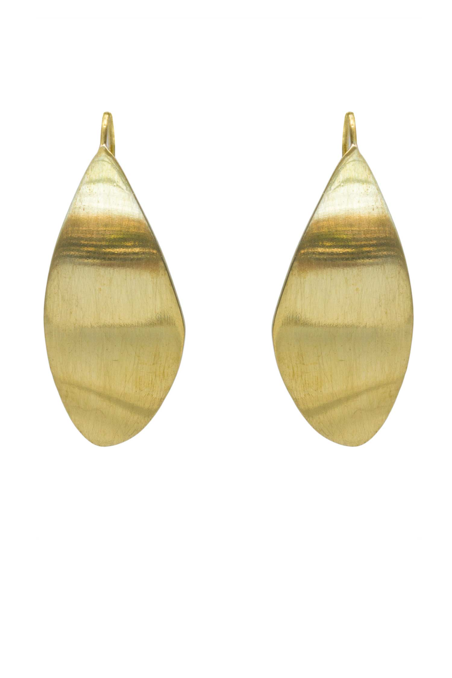Soko Ethical Jewelry Tulla Threader Earrings in Recycled Brass