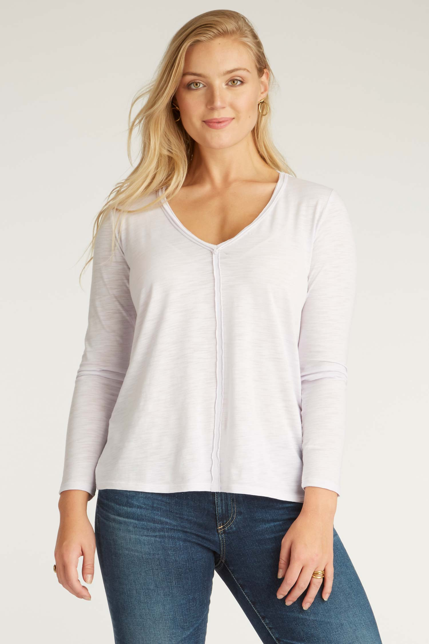 Womens Organic Cotton Shirt | Reversible V Neck Top