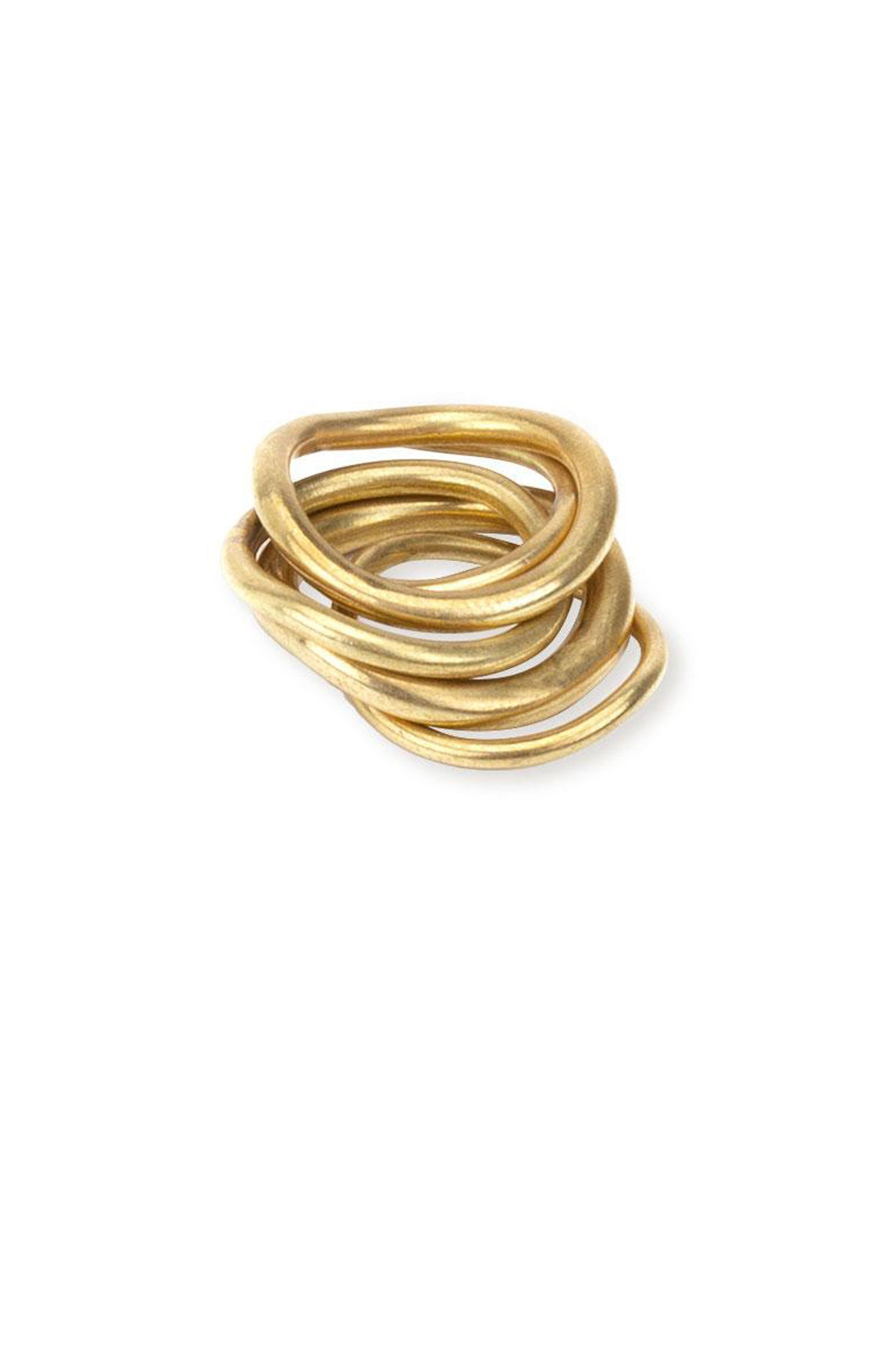 Wavy Ring Stack - Indigenous