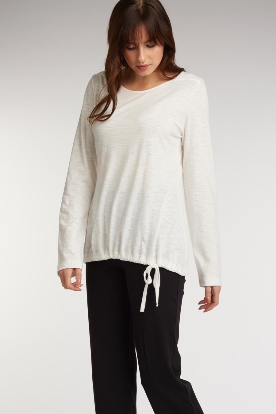 Side Tie Slub Top - Indigenous