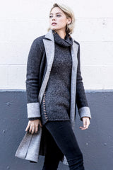 Womens Sustainable Fashion Alpaca Coat