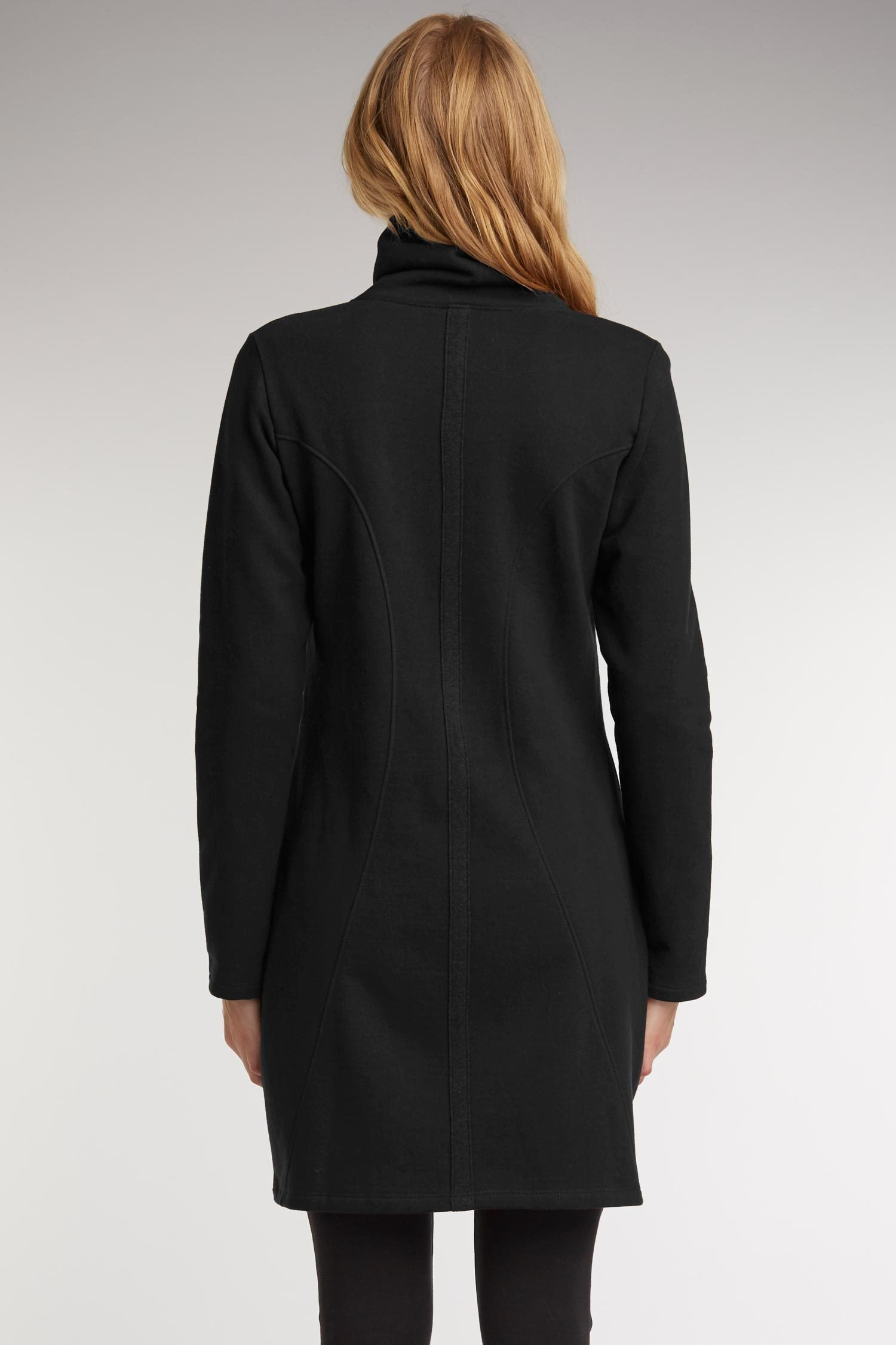 a12ad91b Women's Urban Zip Coat | Organic Cotton Jacket | Black Green ...