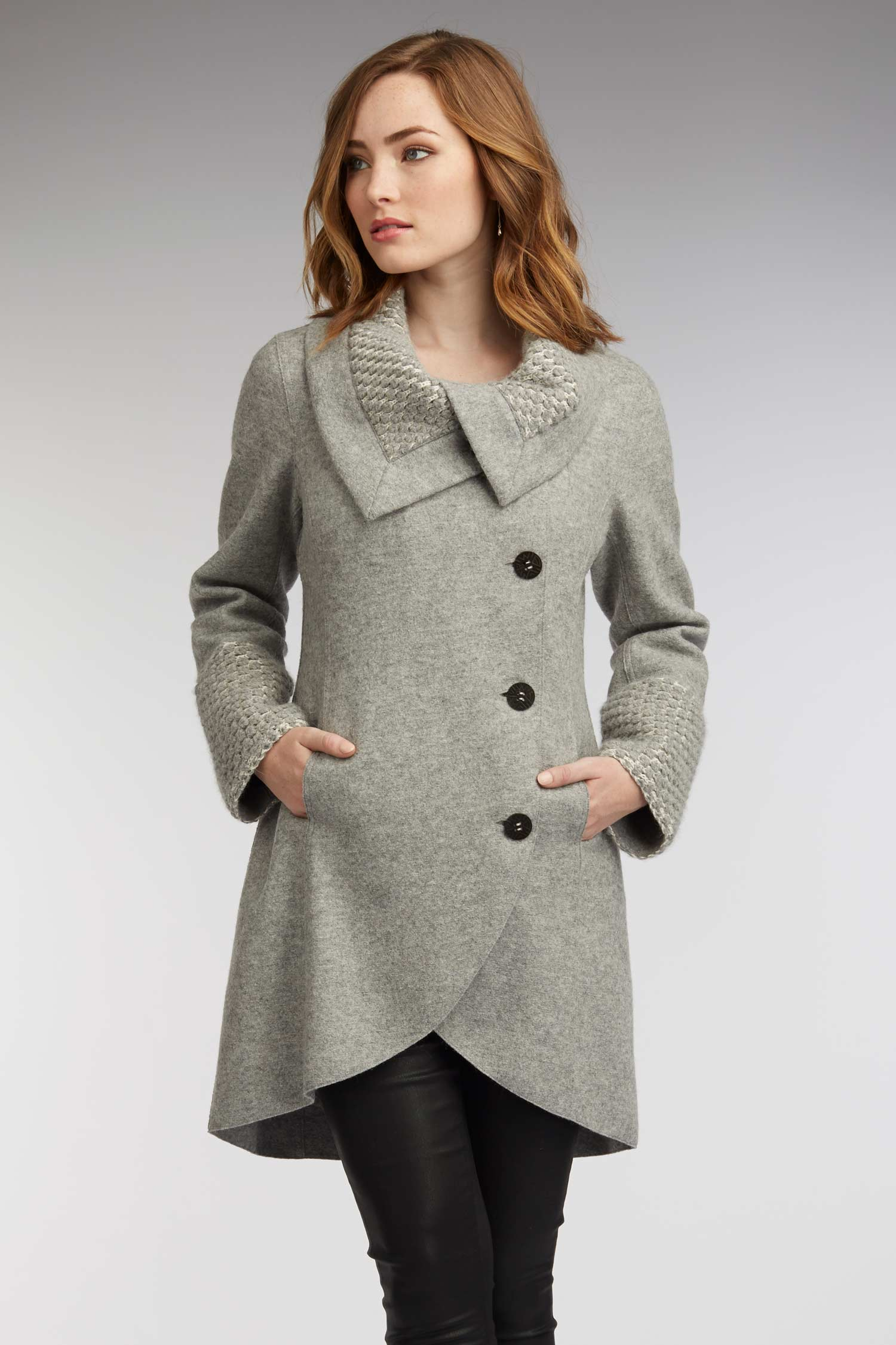 Womens Winter Coat In Free Range Alpaca