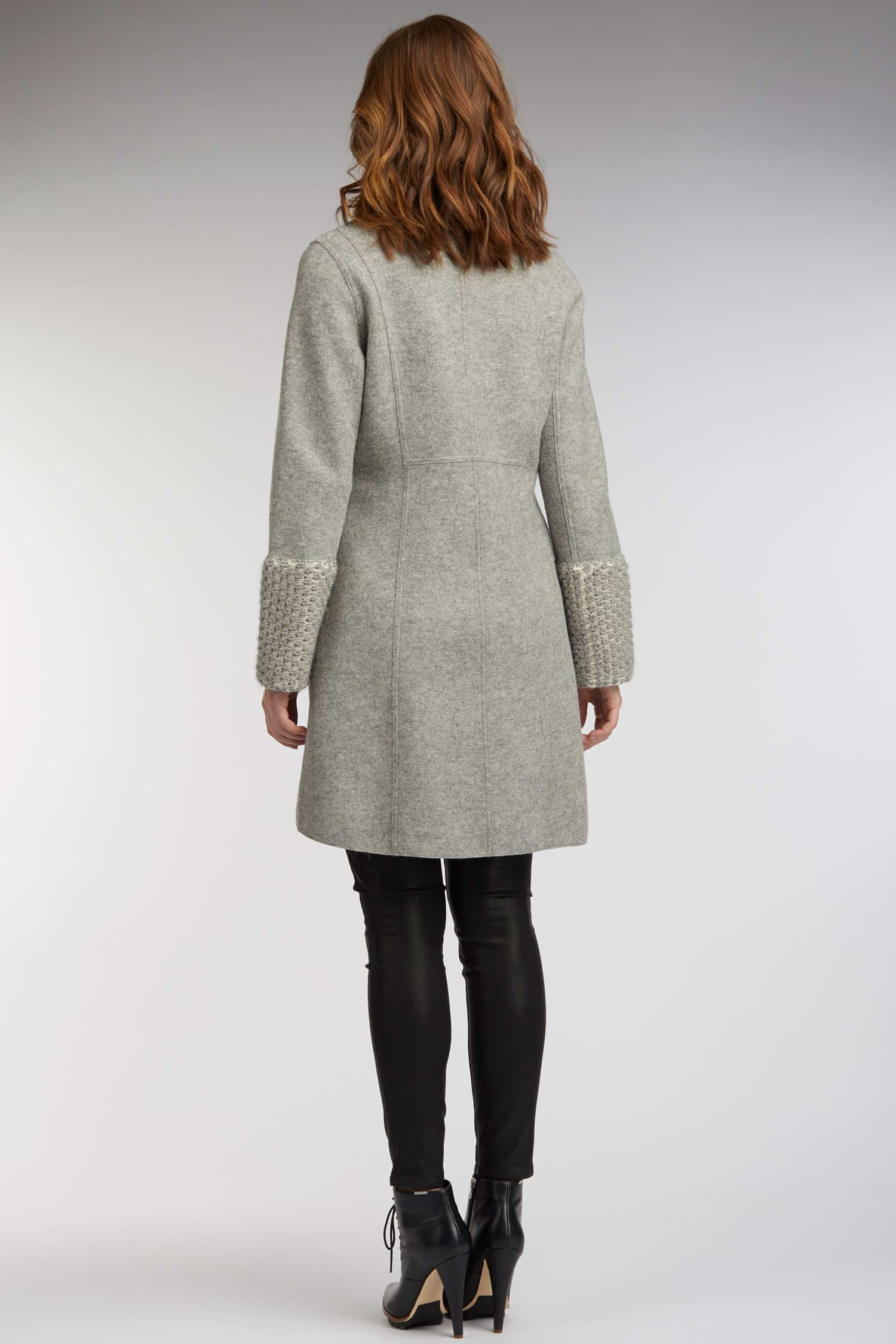 Womens Alpaca Winter Coat in Gray | Sustainable Fashion