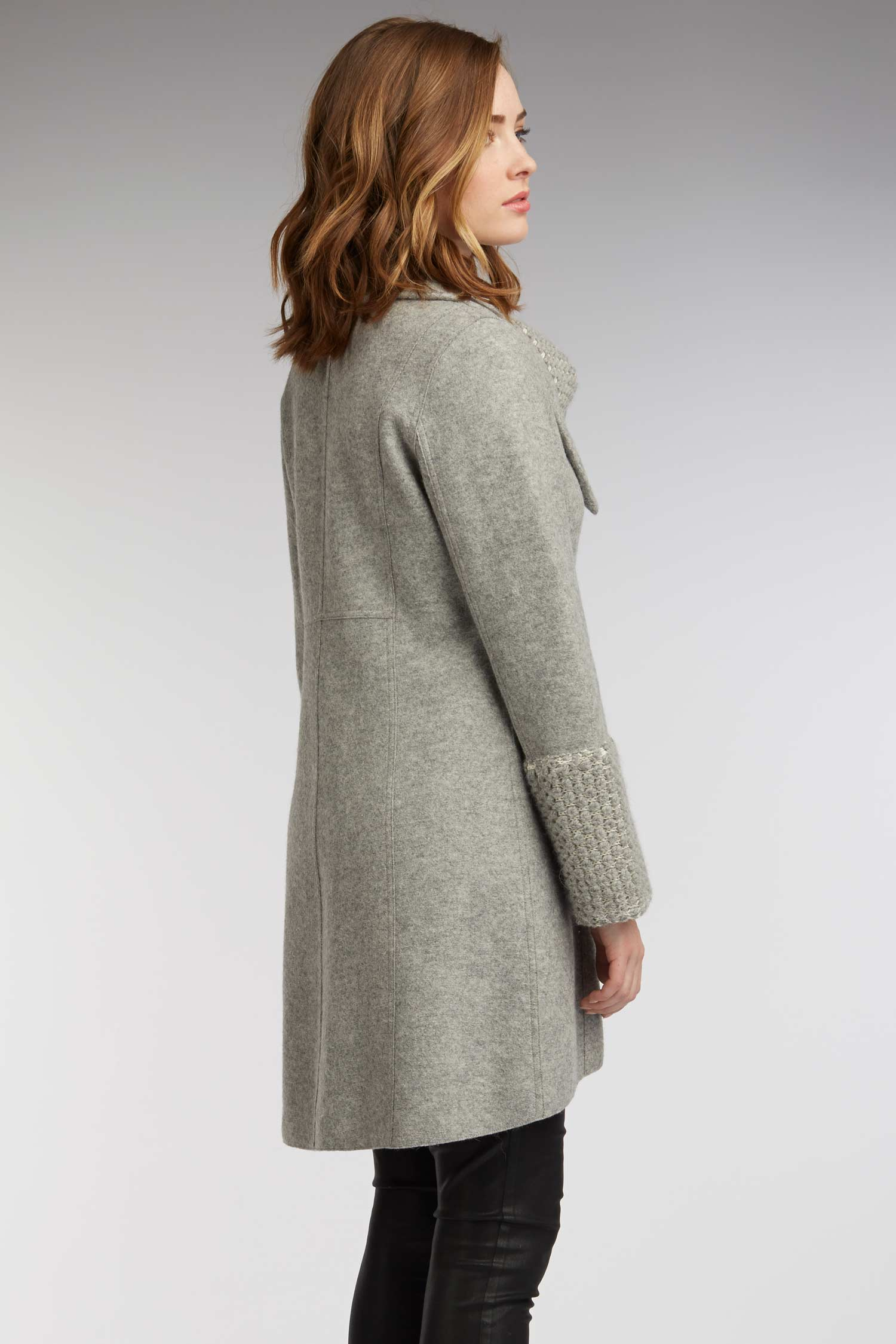 Womens Alpaca Winter Coat in Gray | Ethical Fashion