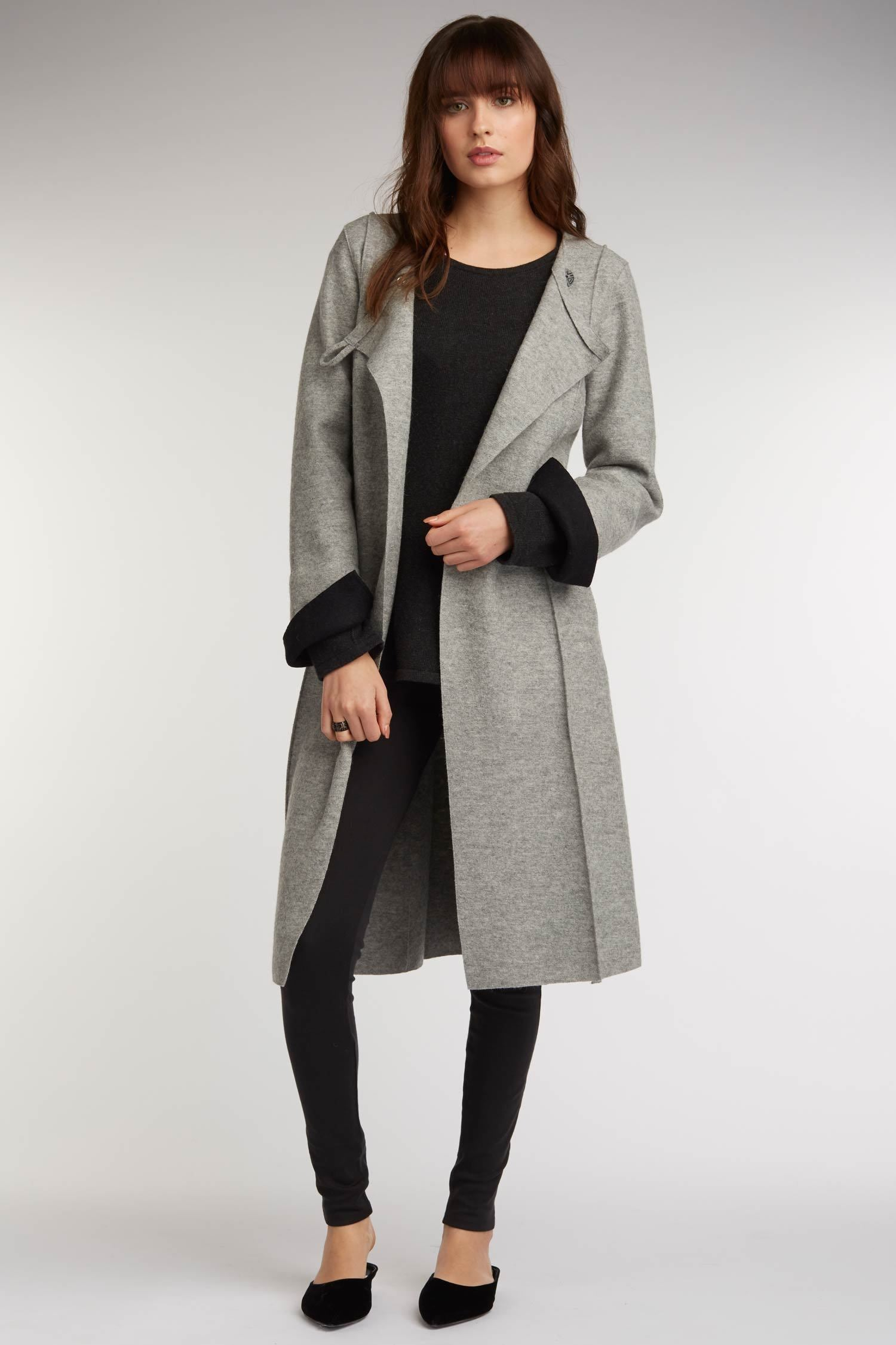 2d724bf523c Womens Coats - Boiled Wool Long Alpaca Coat - Sustainable Fashion ...