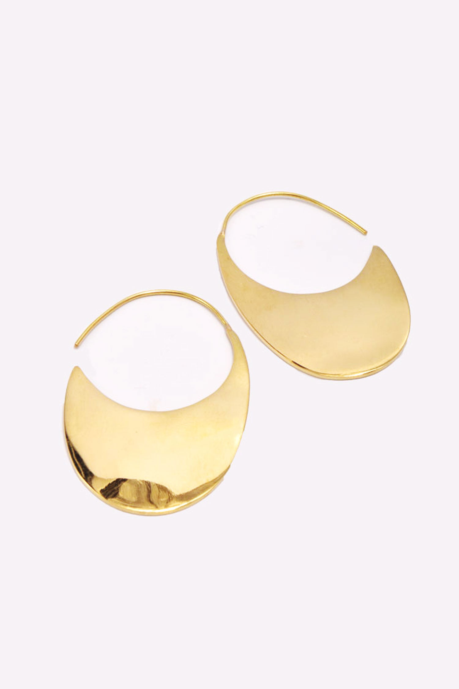 Soko Ethical Jewelry Mezi Drama Threader Earrings in Brass